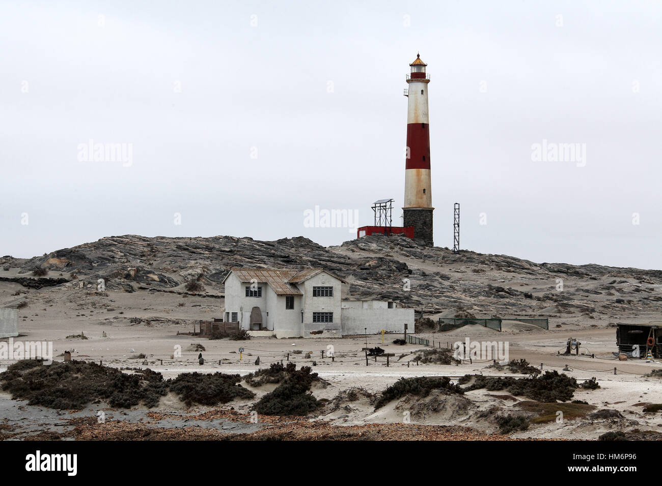 Lighthouse at Diaz Point on the Luderitz Peninsula in Namibia - Stock Image