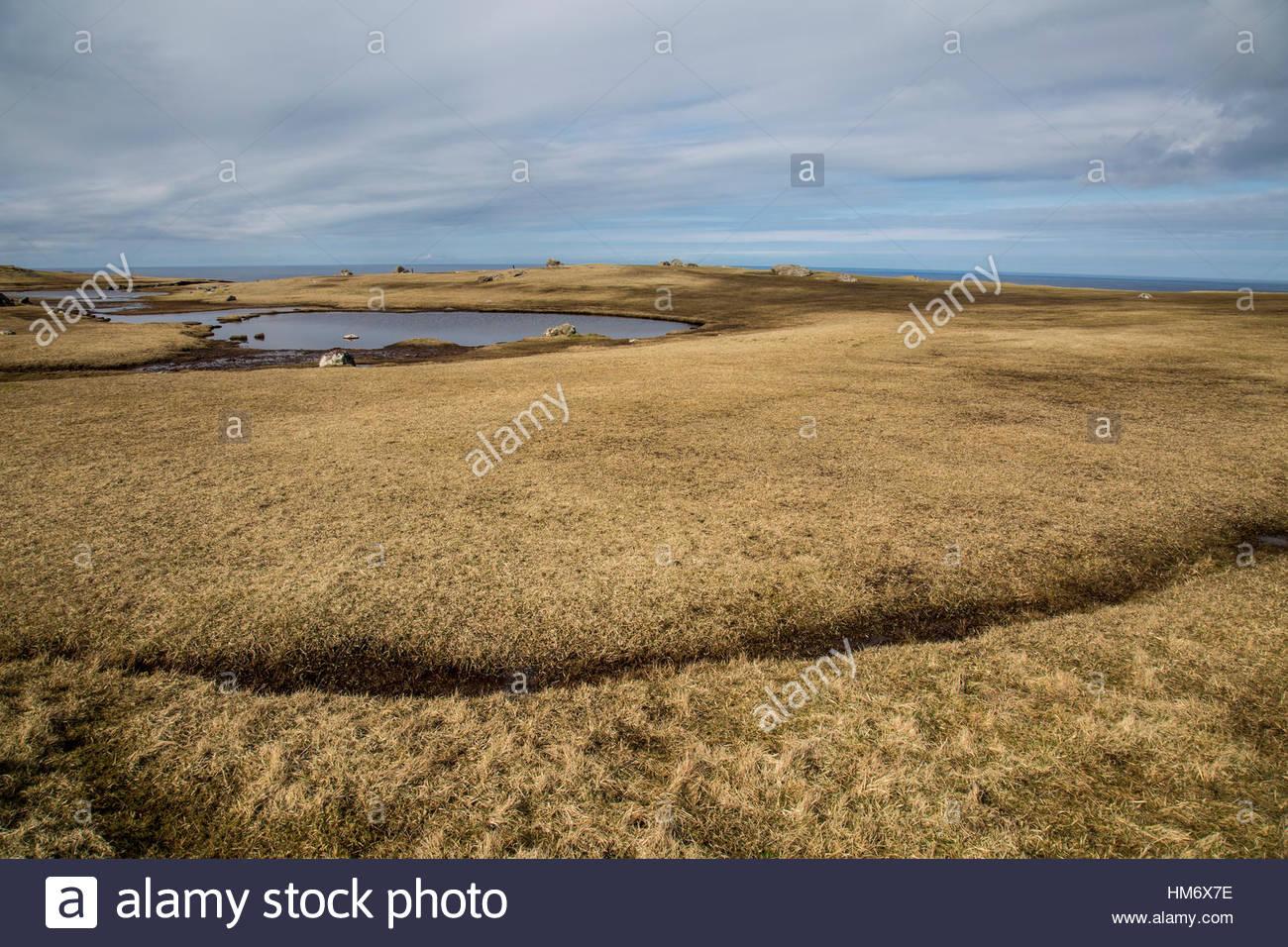 Land Sky Water Shetland - Stock Image