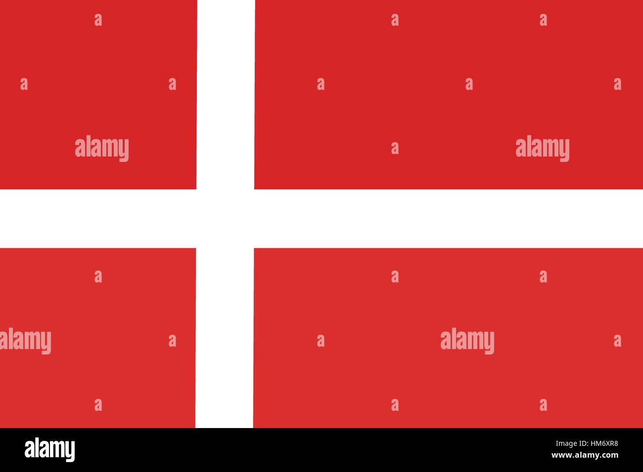 Denmark flag ,Denmark national flag 3D illustration symbol. - Stock Image