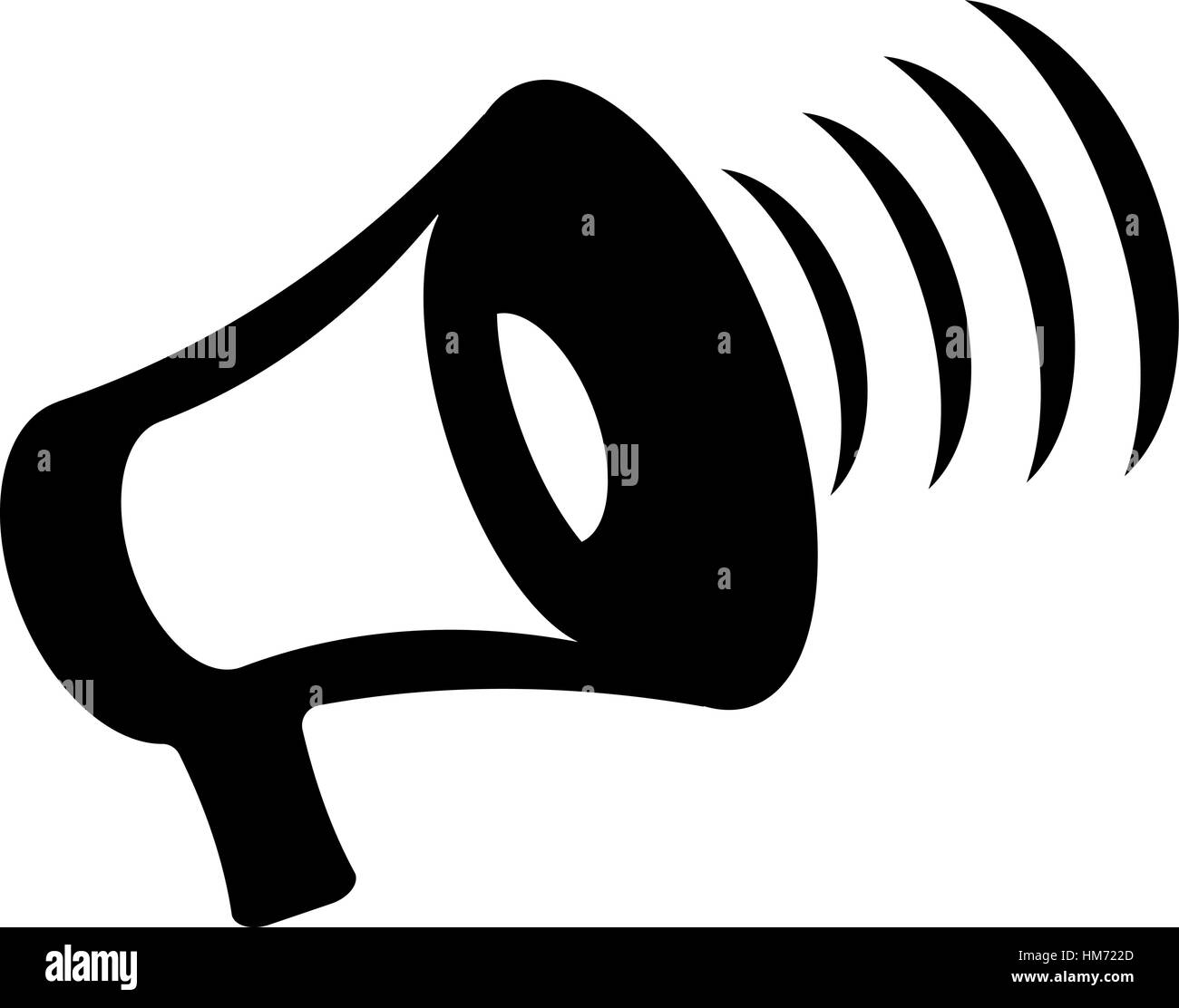 Megaphone icon vector, bullhorn solid illustration, pictogram isolated on white - Stock Vector