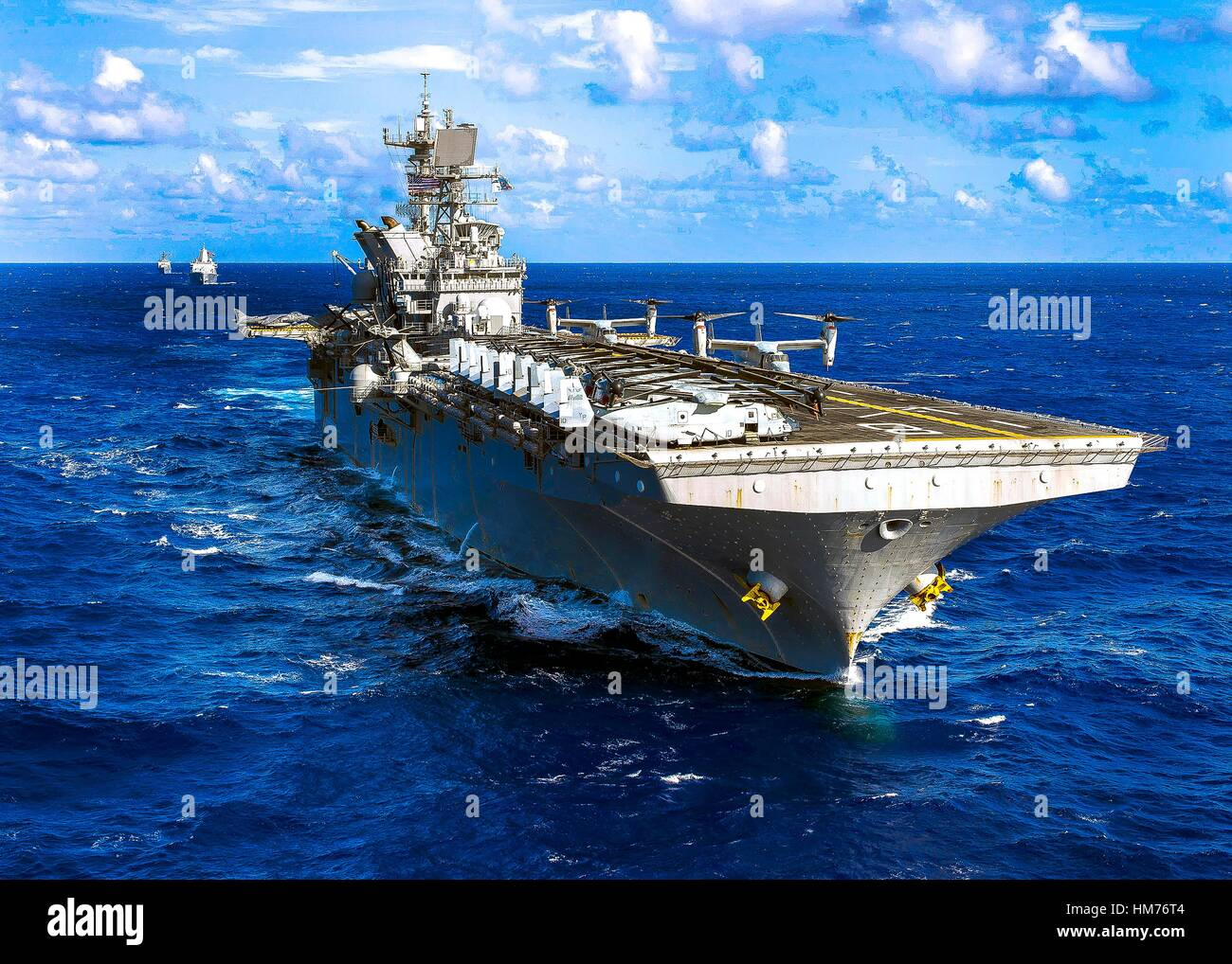 PACIFIC OCEAN (Oct. 25, 2016) The Makin Island Amphibious Ready Group (ARG) underway in the western Pacific Ocean. - Stock Image