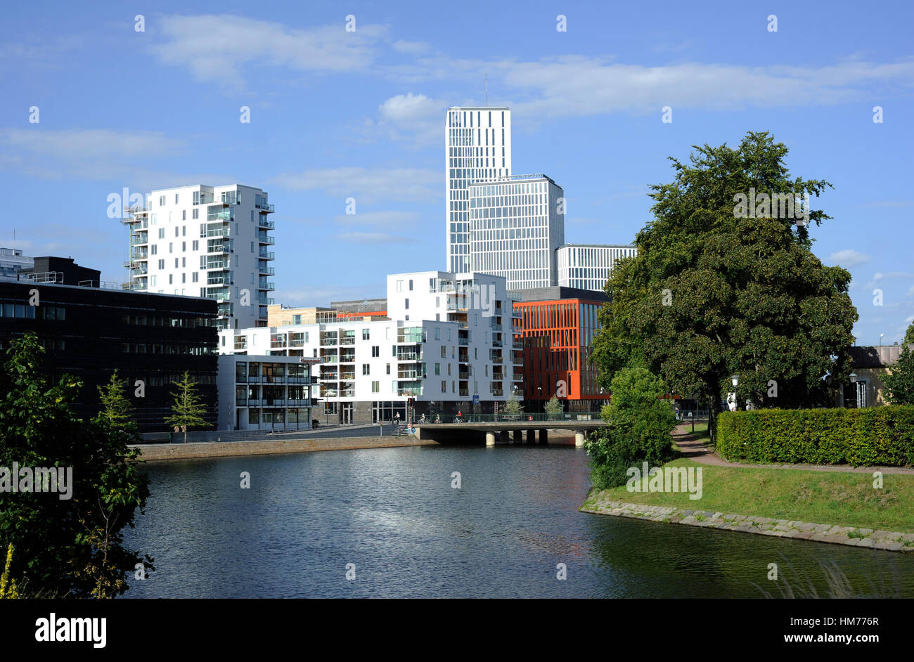Sweden. Malmo. Modern architecture buildings. - Stock Image