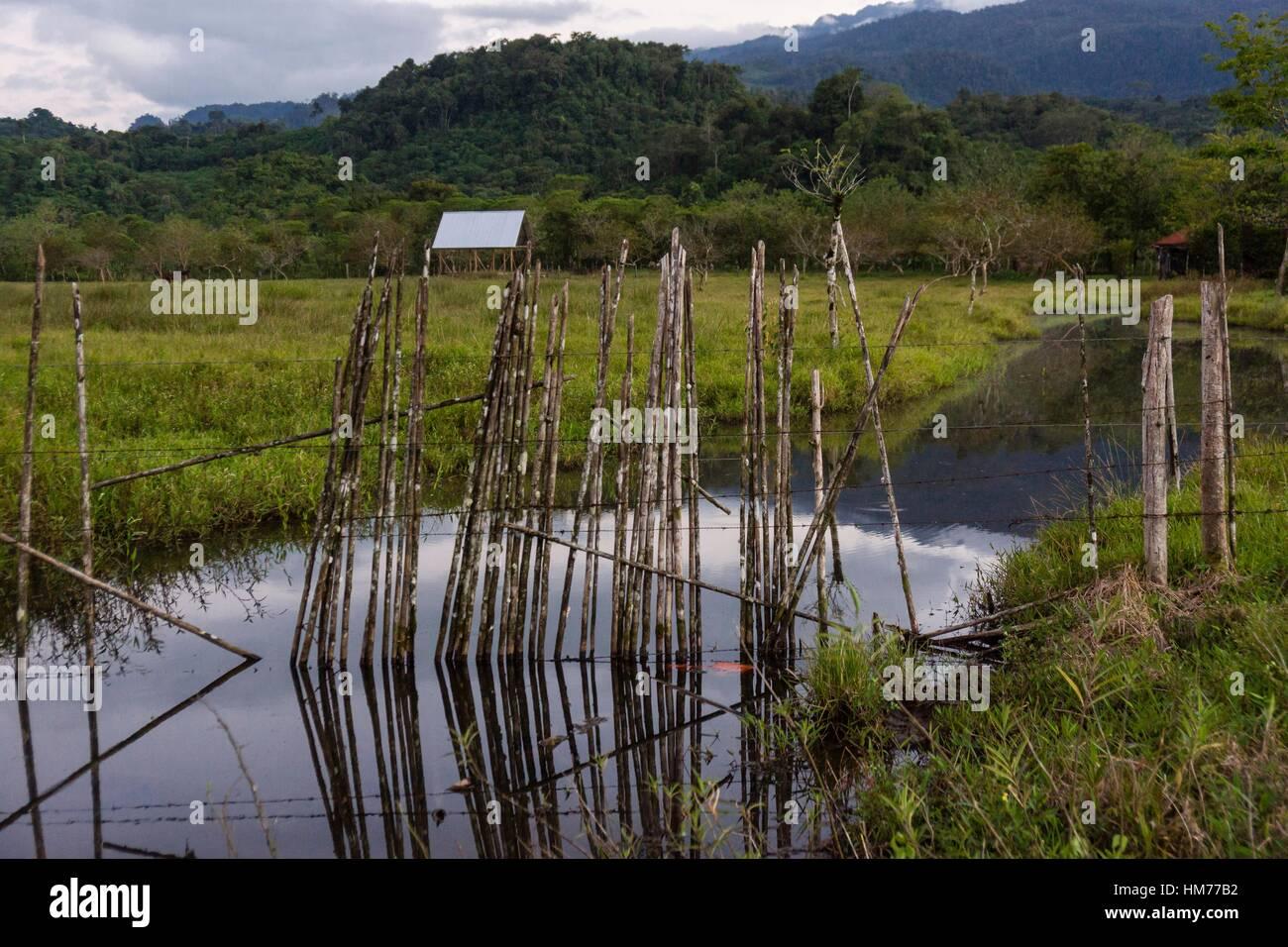 paisaje rural, Lancetillo, La Parroquia, zona Reyna, Quiche, Guatemala, Central America. - Stock Image