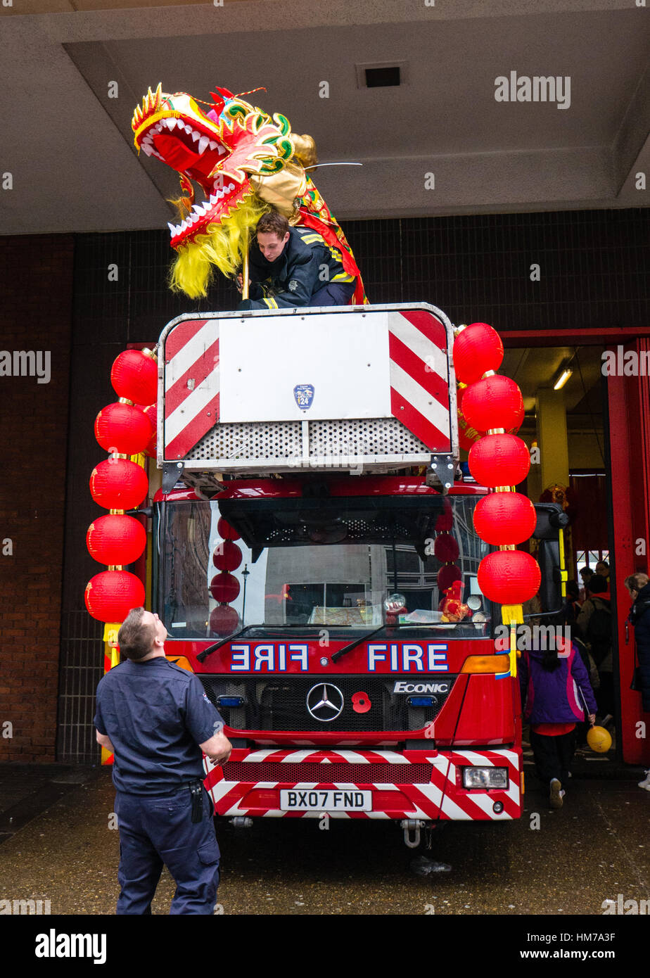 Chinese New Year, China Town, London, England - Stock Image
