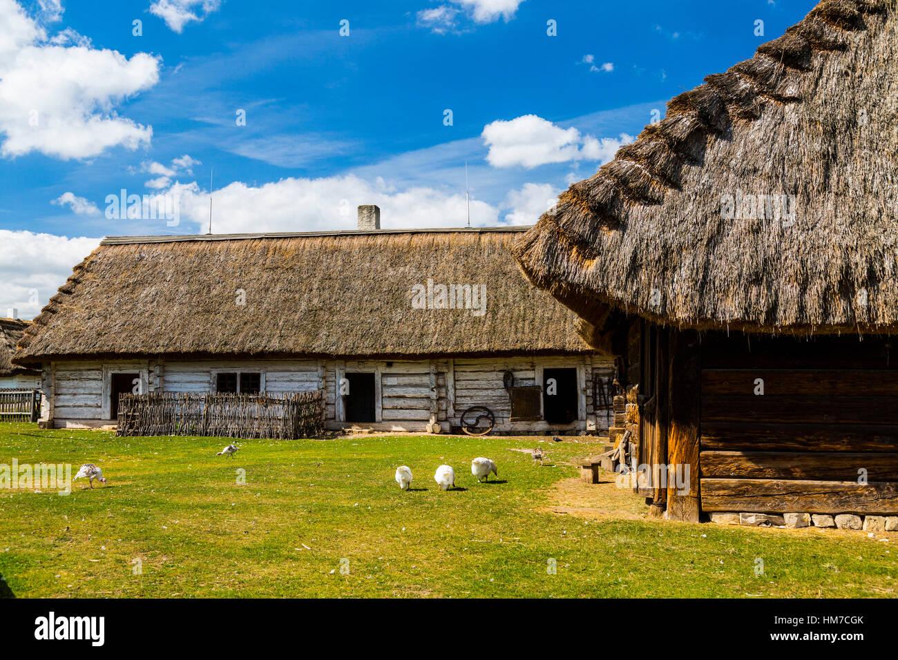 ethnography,countryside,poland,swietokrzyskie,tokarnia,open-air,museum,kielce,muzeum wsi kieleckiej,park etnograficzny,skansen,travel - Stock Image