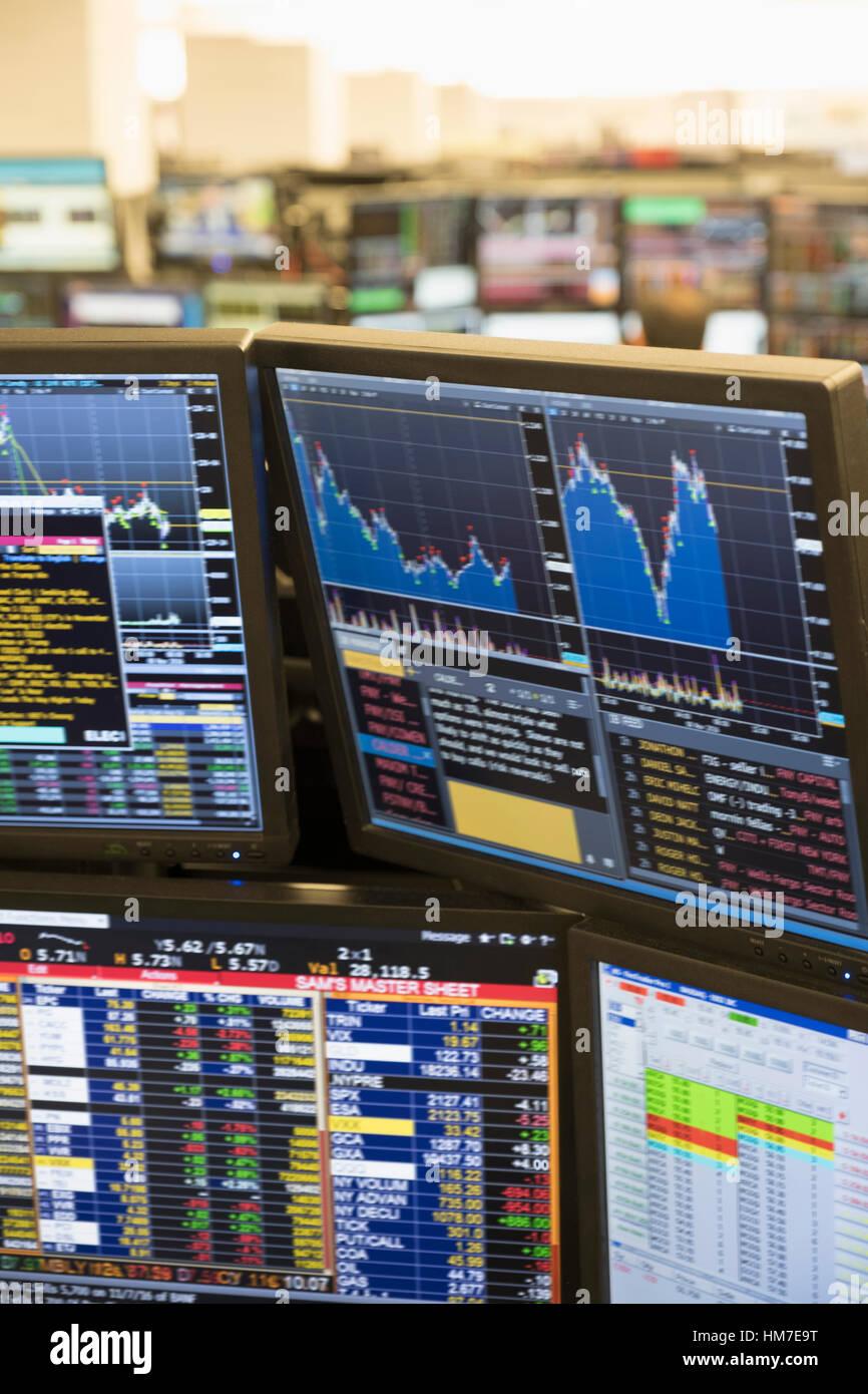 Close up of computer monitor - Stock Image