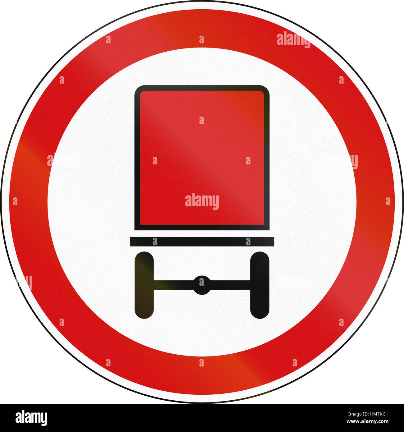 A Slovenian Prohibition Sign No Vehicles Carrying Dangerous Goods