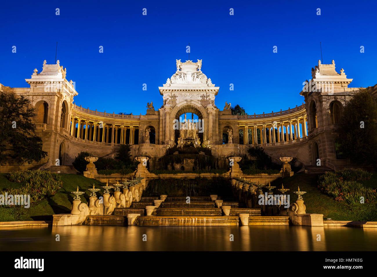 France, Provence-Alpes-Cote d'Azur, Marseille, Palais Longchamp Monument - Stock Image
