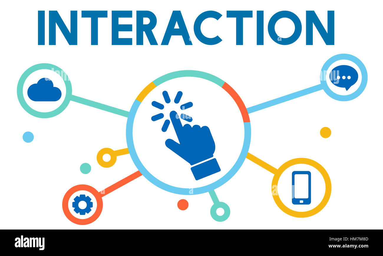 Interaction Integration Company Strategy Concept - Stock Image