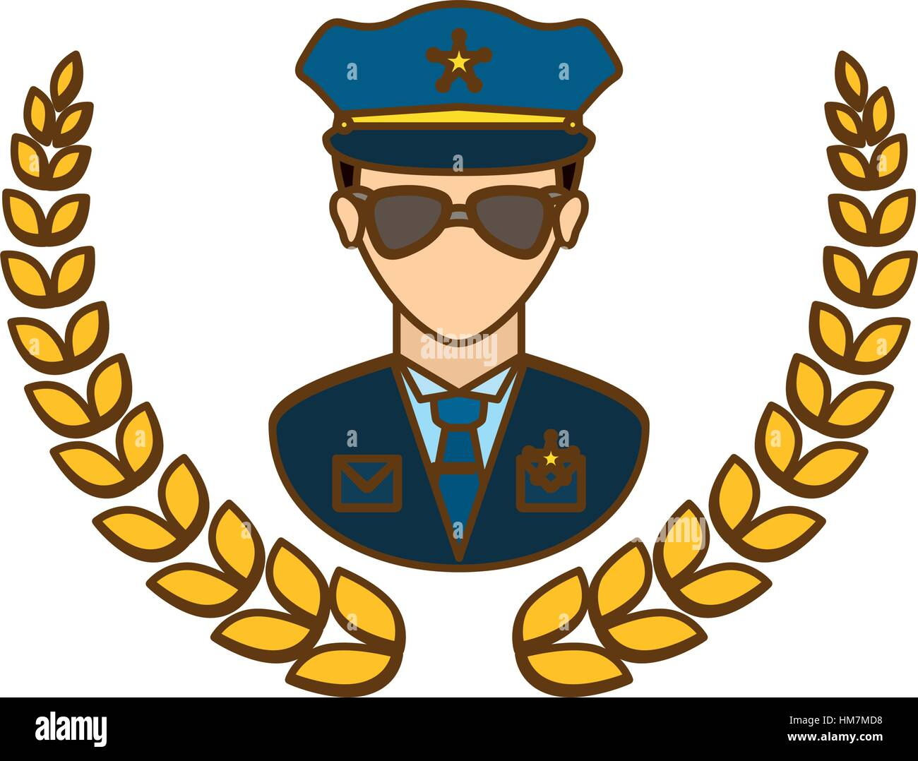 gold police badge icon image vector illustration stock vector art rh alamy com police badge vector icon police badge vector png