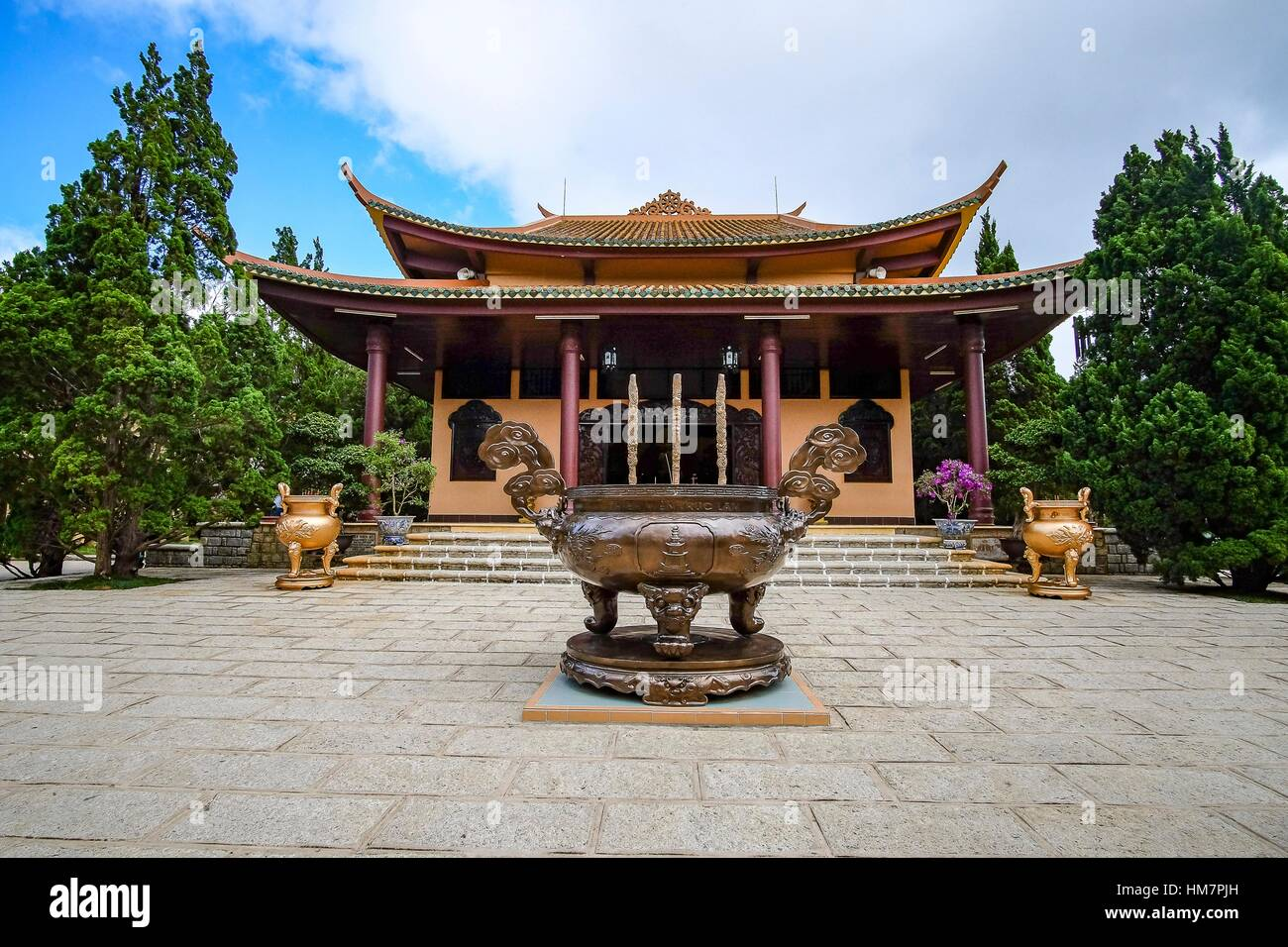 Thien Vien Truc Lam Monastery, Dalat, Vietnam - Stock Image