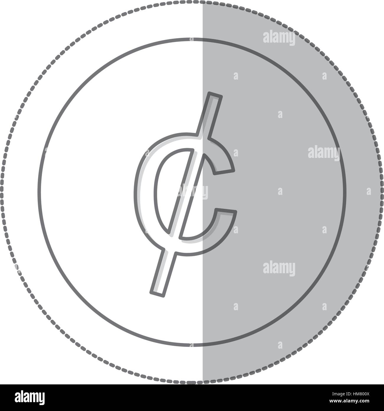 Middle Shadow Monochrome Circle Currency Stock Photos Middle