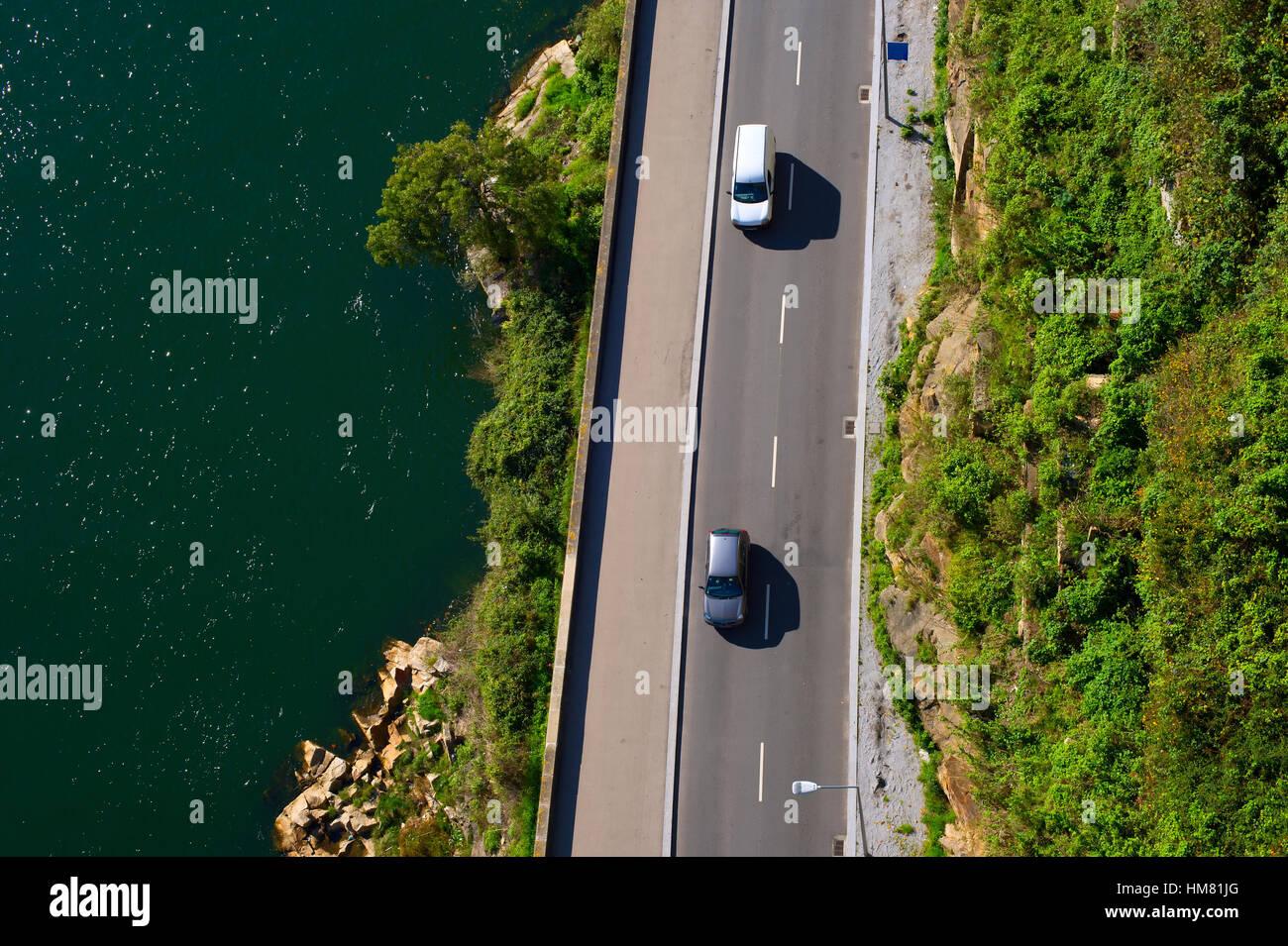 Roadtrip by the coastline. Porto, Portugal - Stock Image