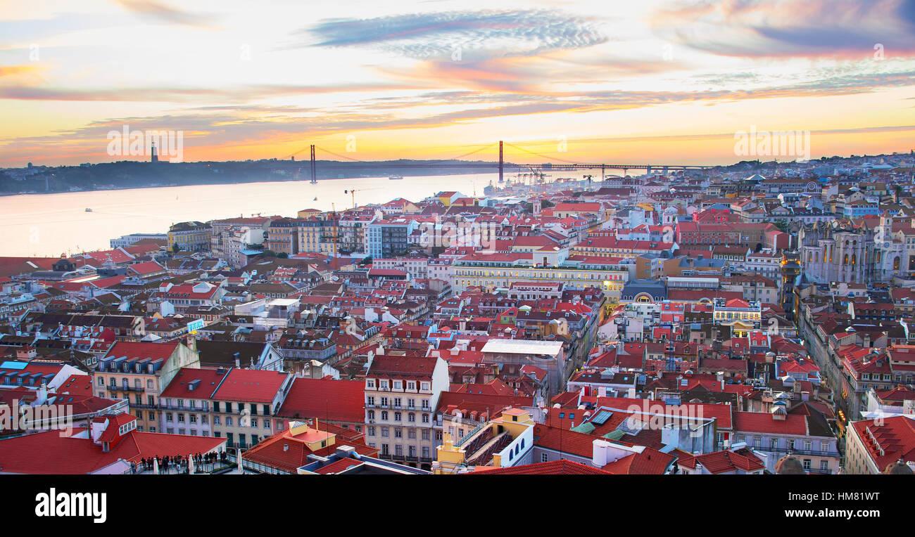 Beautiful cityscape of Lisbon, Portugal - Stock Image