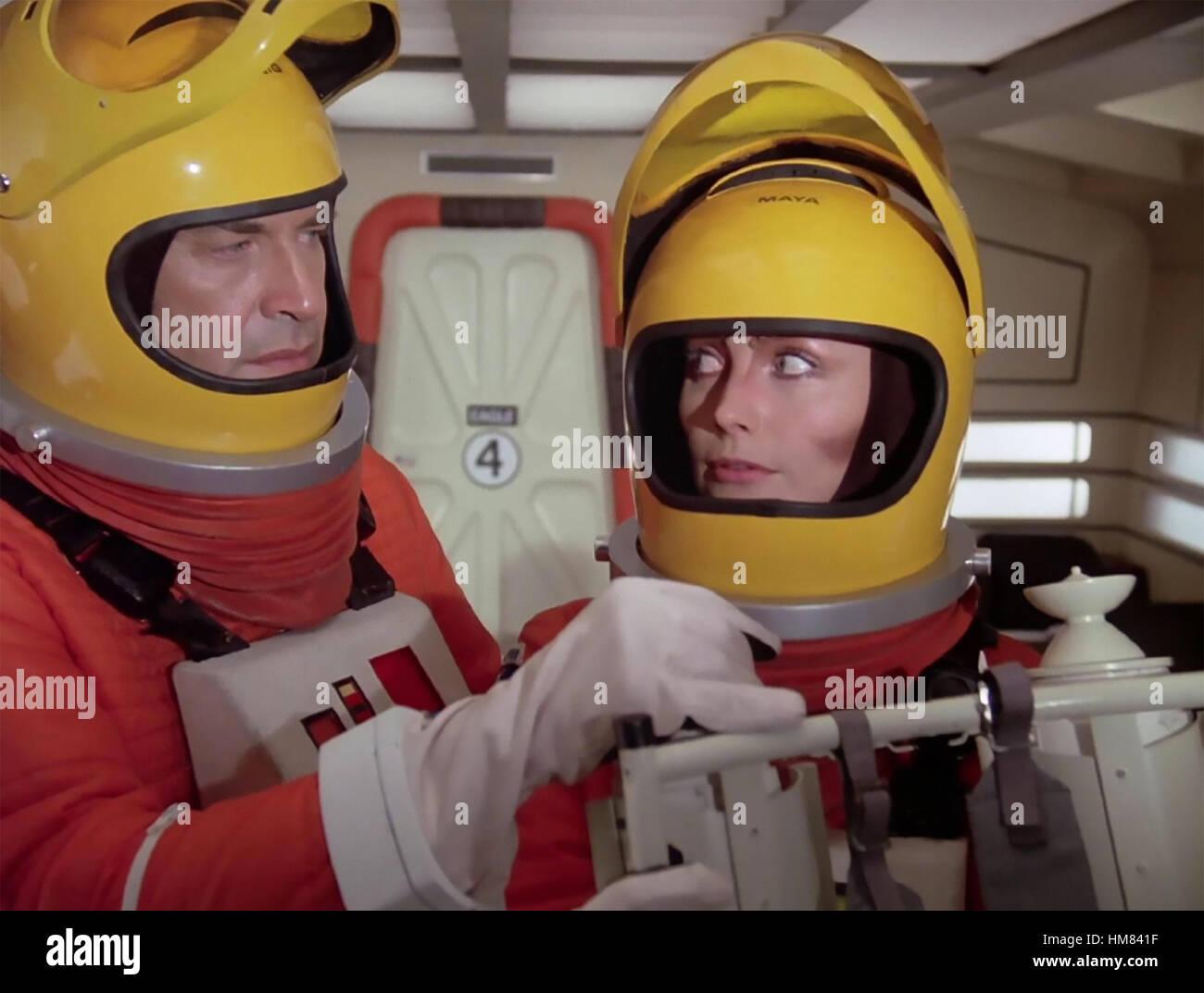 SPACE 1999 ITC/ATV  TV series 1975-1977  with Martin Landau and Barbara Bain - Stock Image