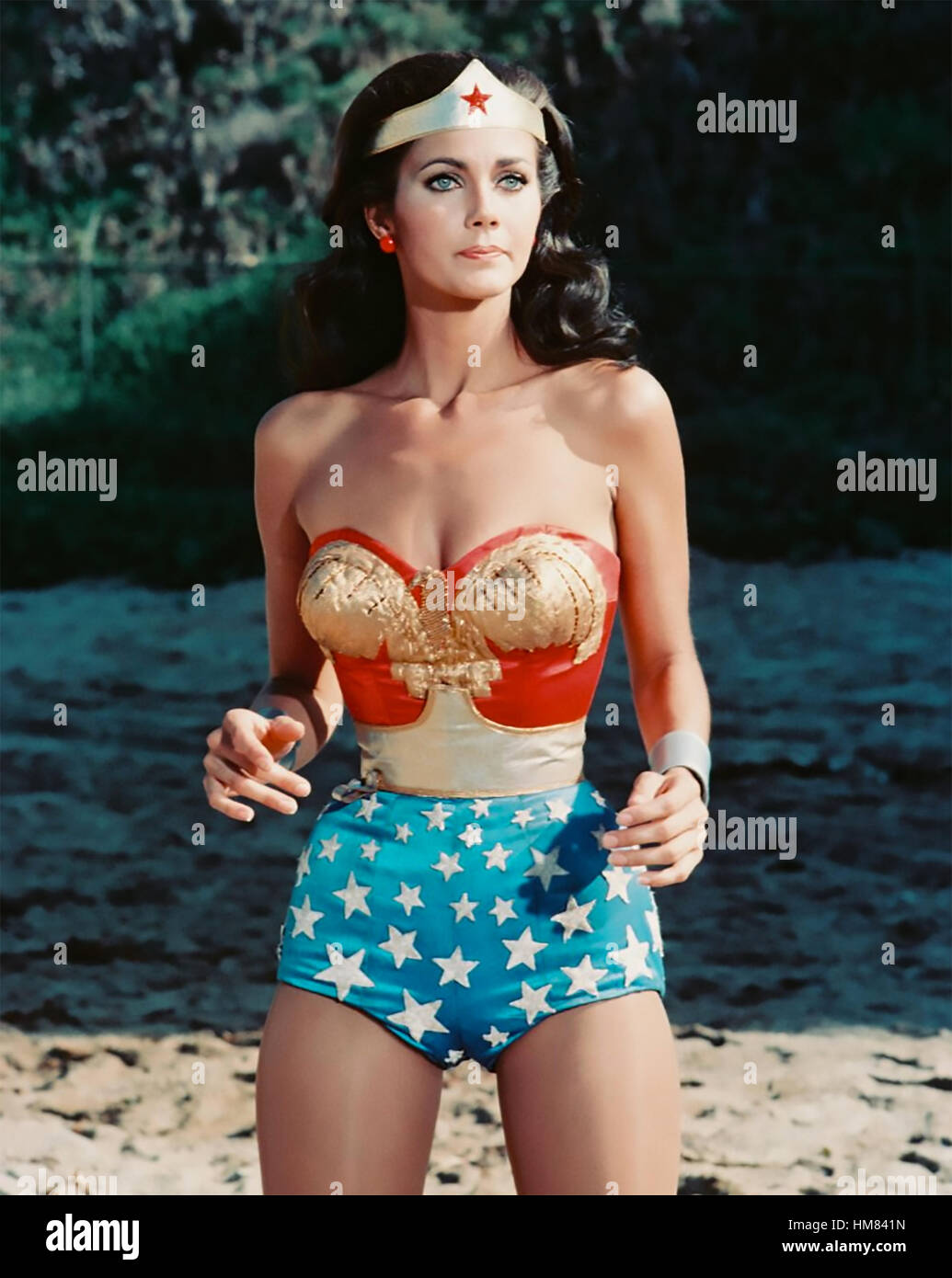 WONDER WOMAN  Warner Bros TV series  1975-79 with Lynda Carter - Stock Image