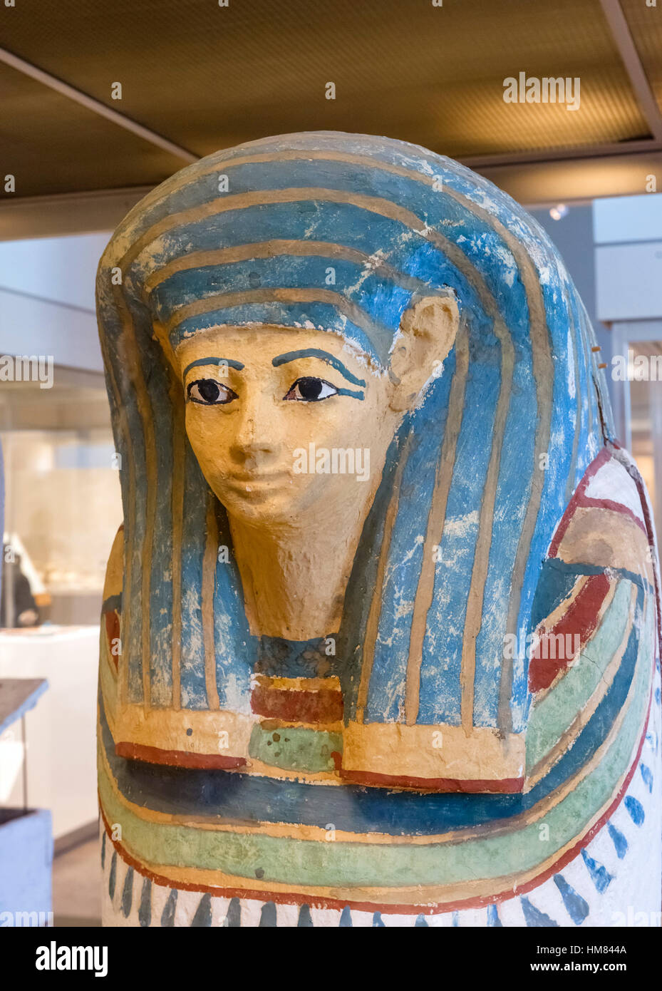 Egyptian Mummy from the burial chamber of Hatnofer and Ramose and their family - Stock Image