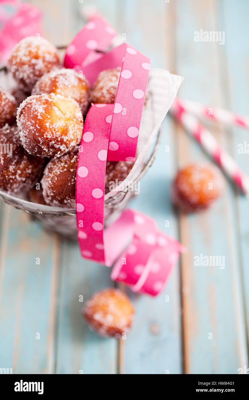 Finnish sugar donuts for Vappu celebration - Stock Image