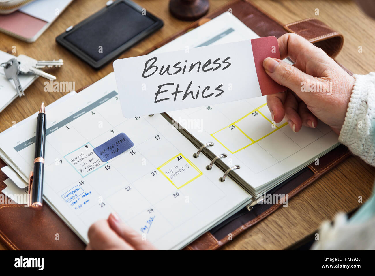 Business Ethics Integrity Moral Trustworthy Fair Trade Concept - Stock Image