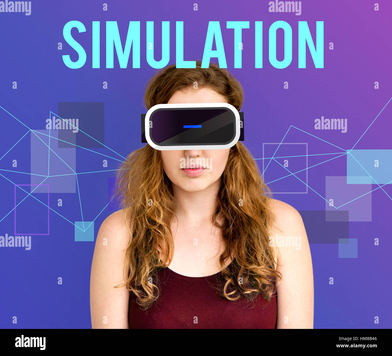 Technology Innovation Simulation Gadget Concept - Stock Image
