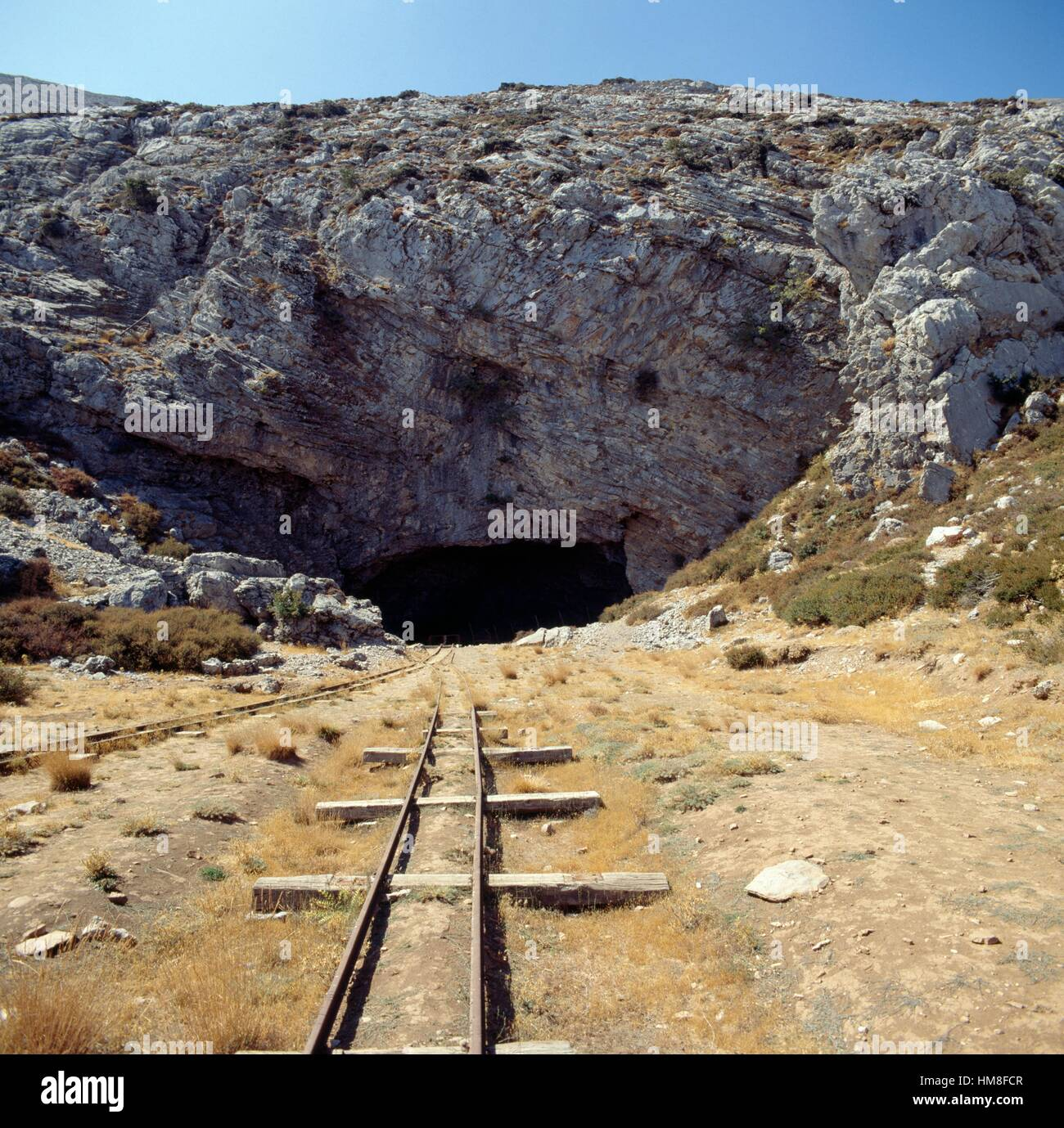 Ideon Cave or Ideon Andron, according to myth the birthplace of Zeus, slopes of Mount Psiloritis or Mount Ida, Crete, - Stock Image