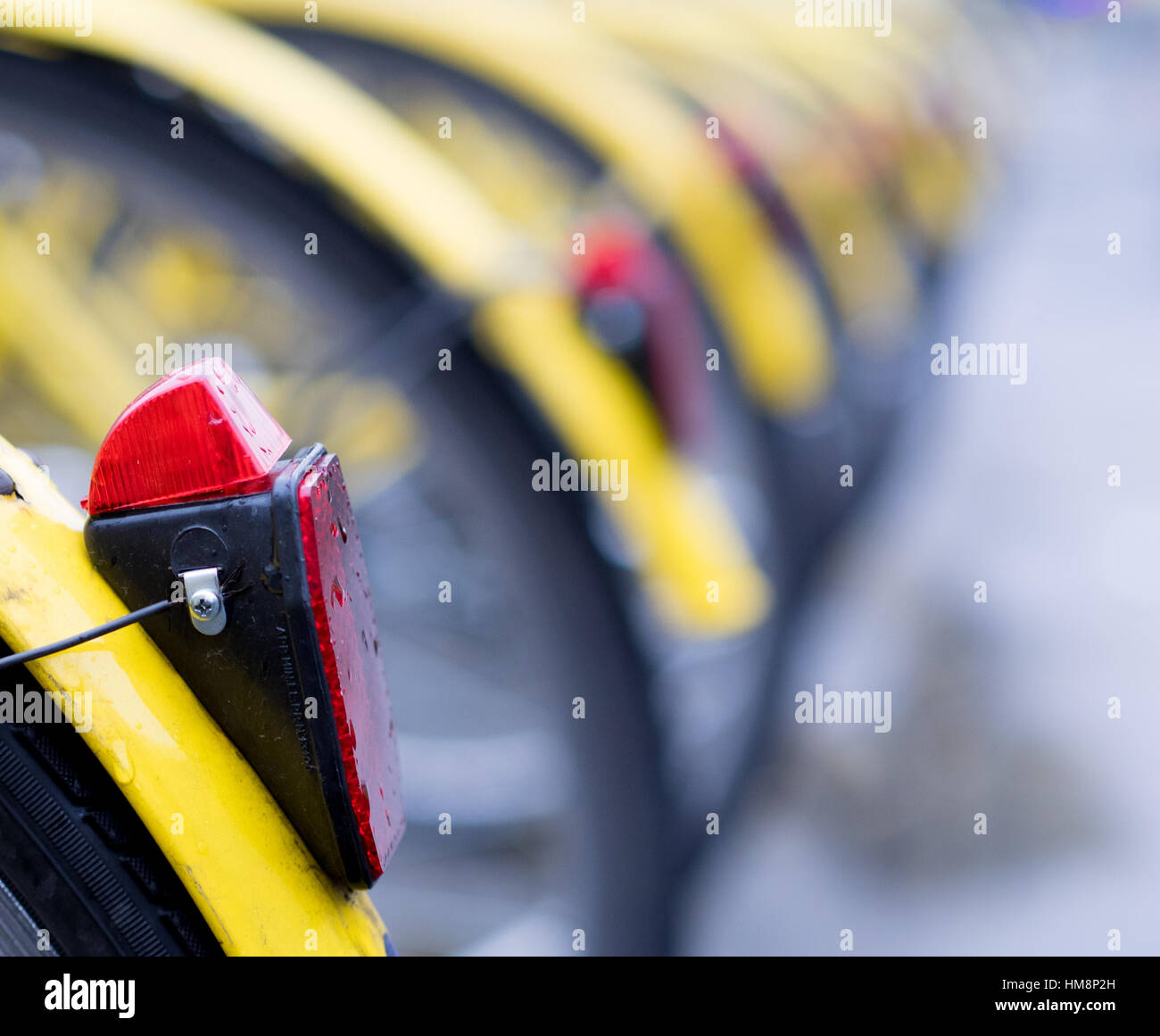 bike sharing in the city - Stock Image
