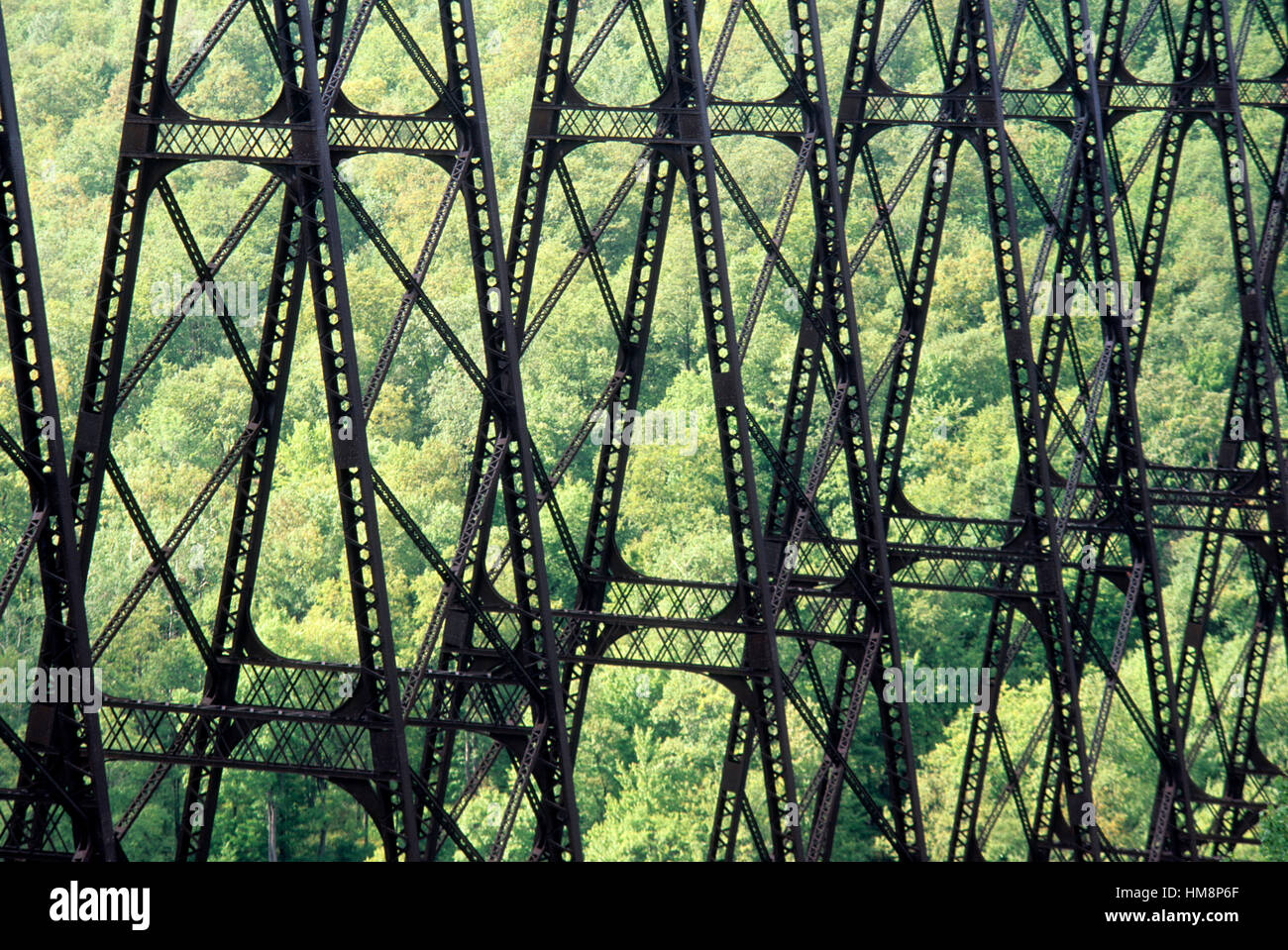 Kinzua Bridge (before collapse), Kinzua Bridge State Park, Pennsylvania. - Stock Image