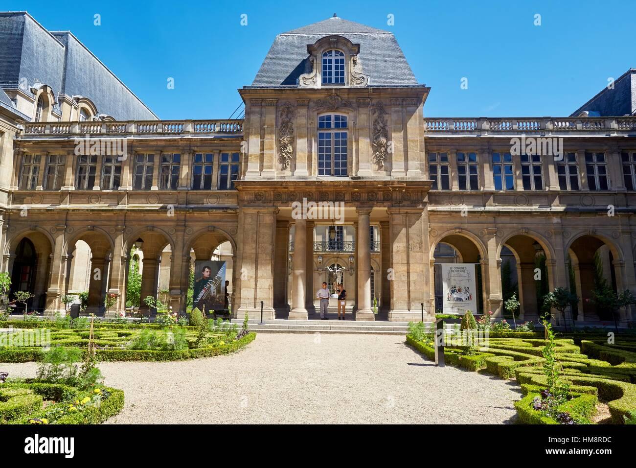 Musée Carnavalet Museum, Le Marais, Paris, France - Stock Image