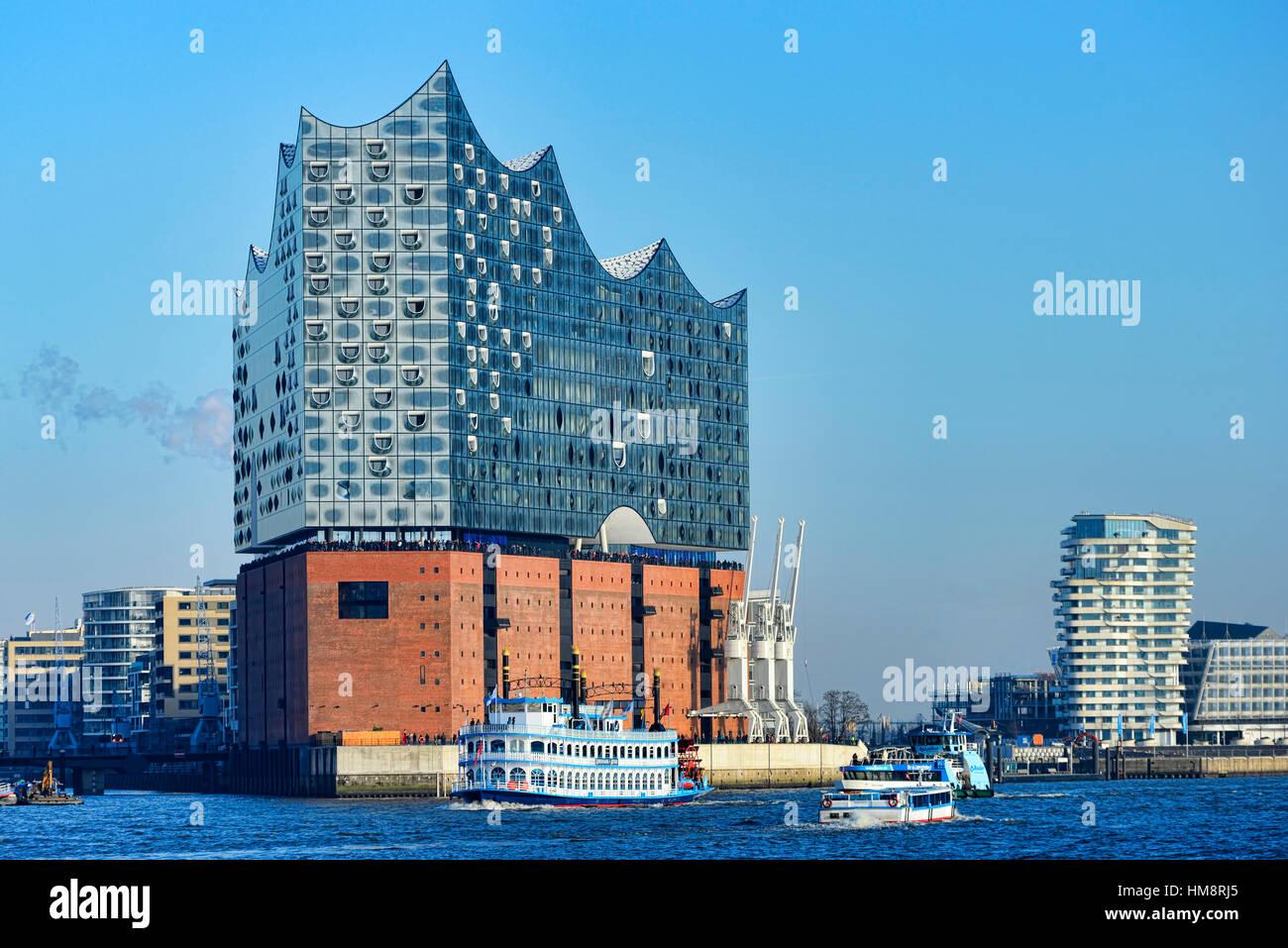 Elbe Philharmonic Hall Elbphilharmonie in Hamburg, Germany Stock Photo