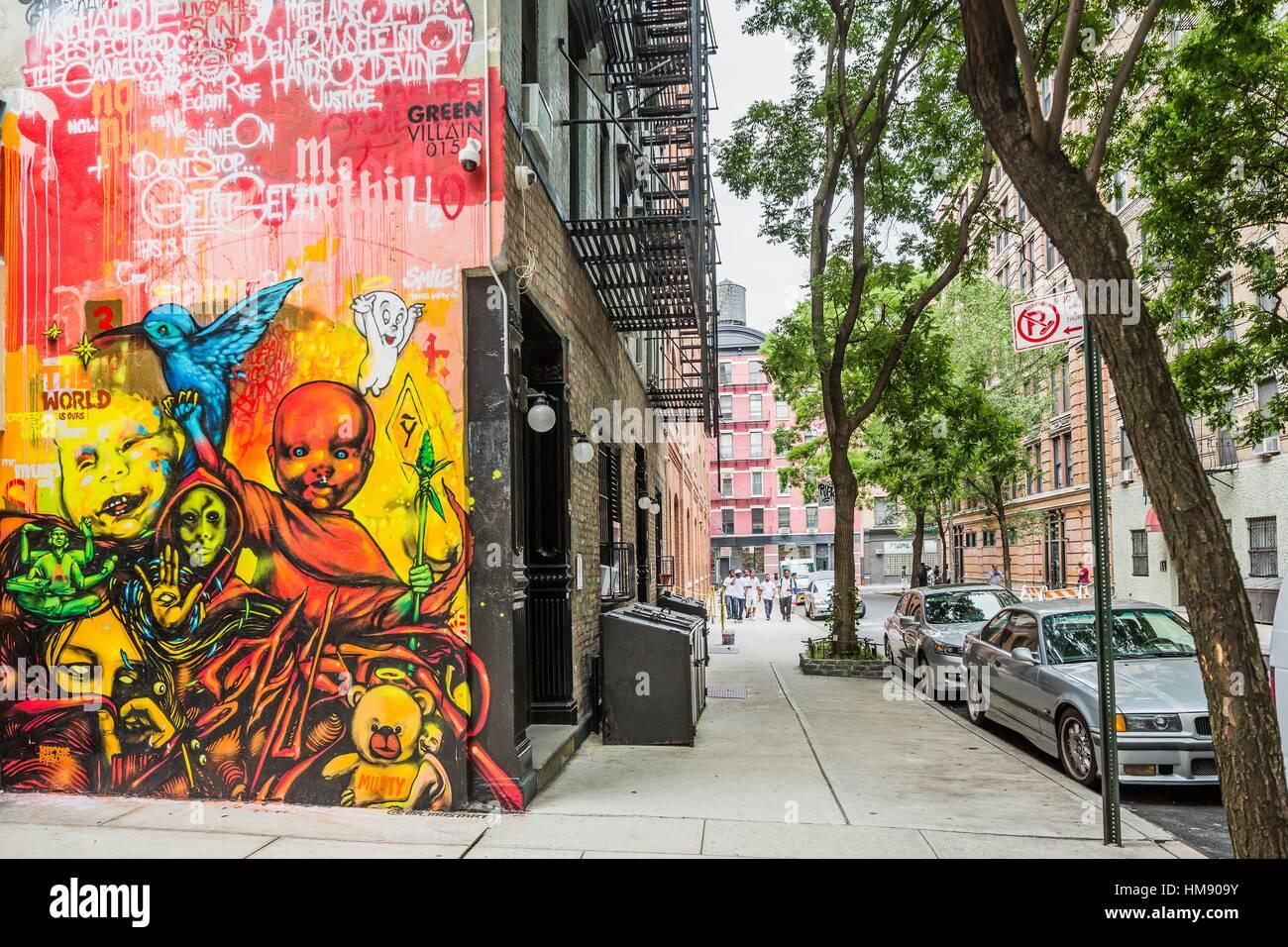 Foto Murales New York.Murales Graffiti Nolita Manhattan New York City New