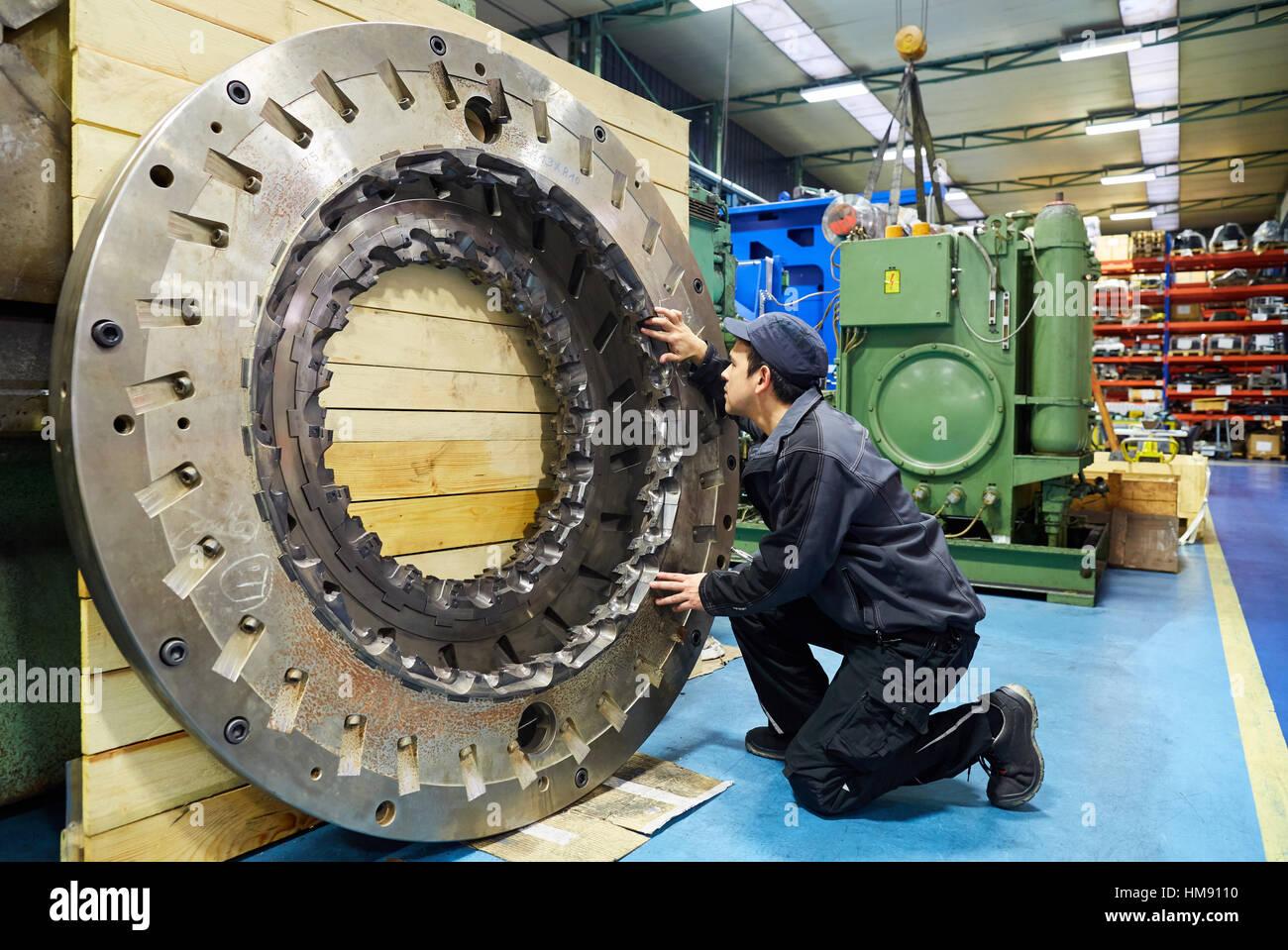 Turnmill lathe. Retrofitting. Machining Center. CNC. Design, manufacture and installation of machine tools. Bost - Stock Image
