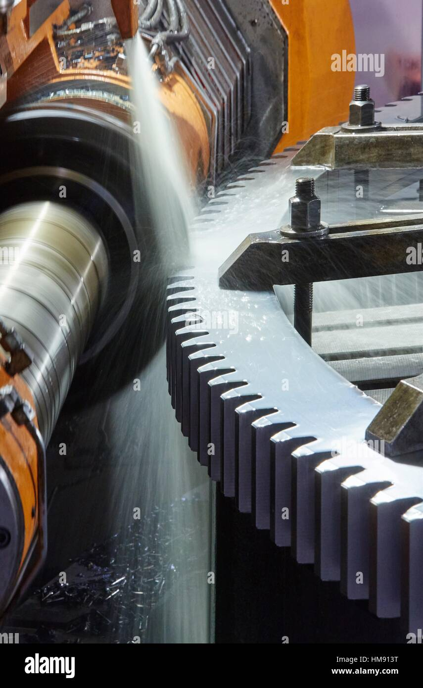Machining steel, Iron Industry, Gipuzkoa, Basque Country, Spain - Stock Image