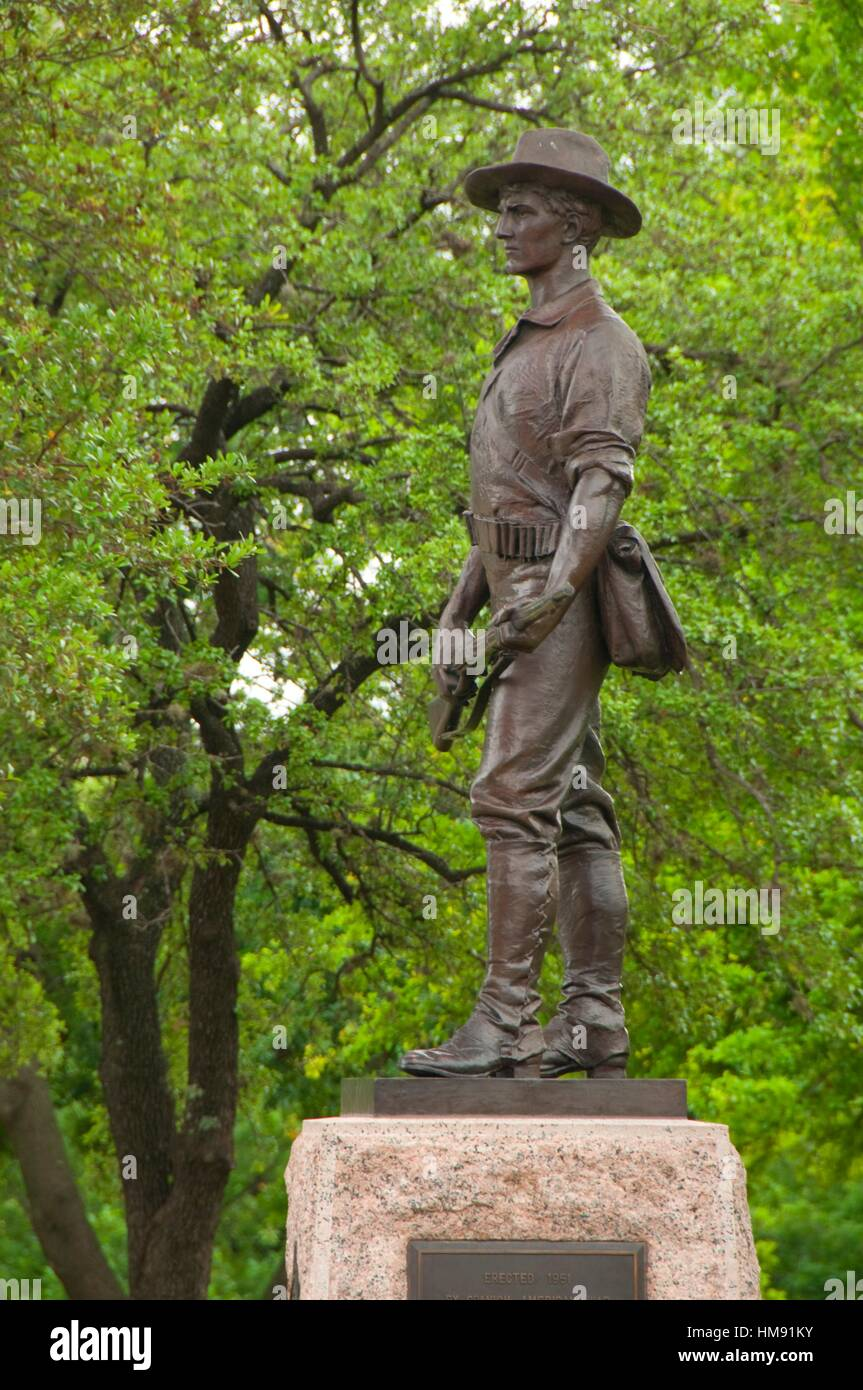 The Hiker, Spanish-American War memorial, Texas Capitol Complex, Austin, Texas. - Stock Image
