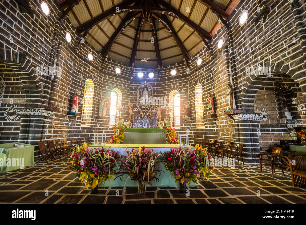 Cathedral of Our Lady of the Assumption, Mata-Utu, Wallis, Wallis and Futuna, South Pacific, Pacific - Stock Image