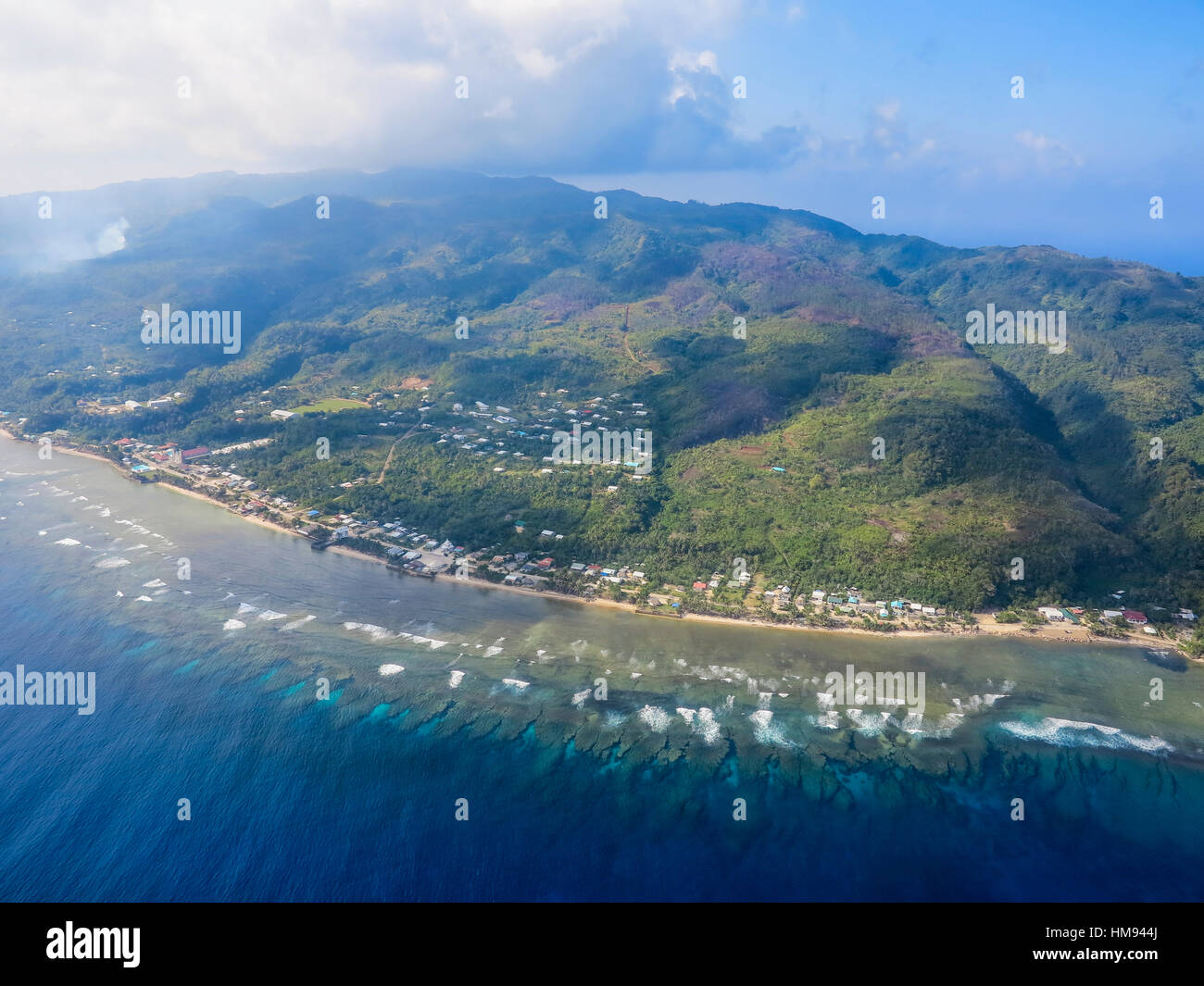 Aerial of Futuna, Wallis and Futuna, South Pacific, Pacific - Stock Image