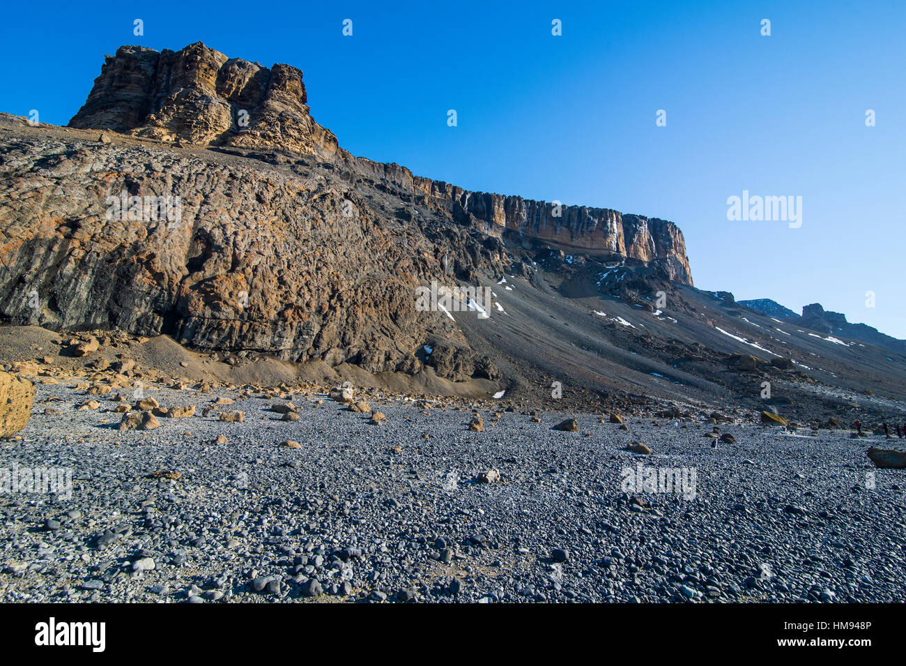 Brown Bluff huge volcanic basalt, Tabarin Peninsula, Antarctica, Polar Regions - Stock Image