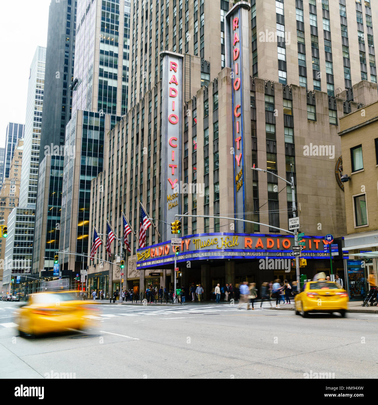 Radio City Music Hall, Manhattan, New York City, United States of America, North America - Stock Image
