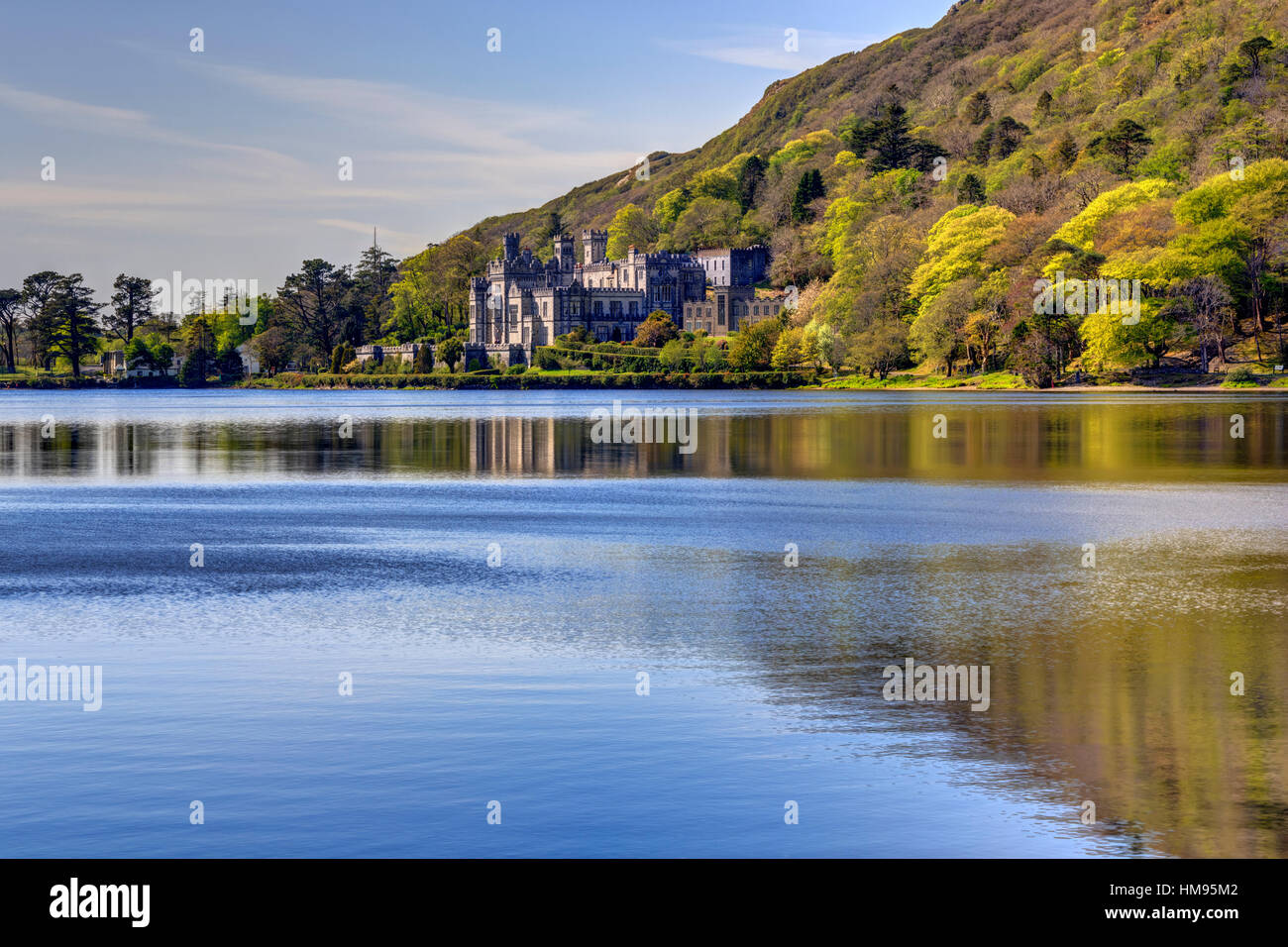 Kylemore Abbey, Connemara, County Galway, Connacht, Republic of Ireland - Stock Image