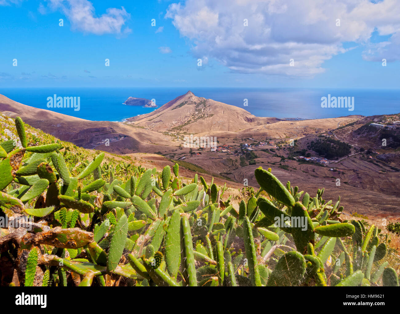 Landscape of the Porto Santo Island, Madeira Islands, Portugal, Atlantic - Stock Image
