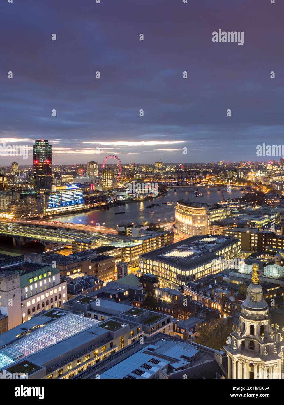 Cityscape from St. Paul's, London, England, United Kingdom - Stock Image