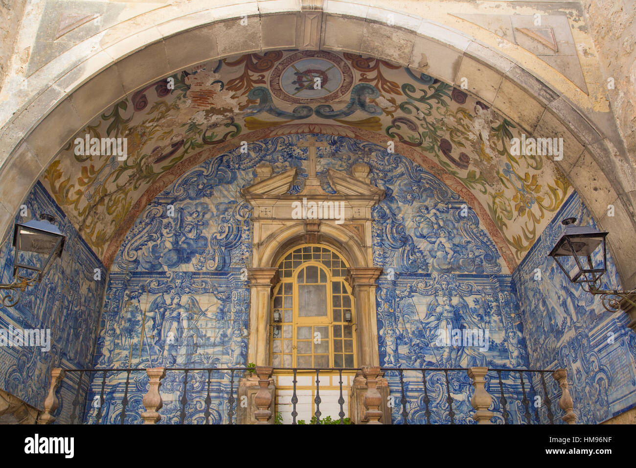 Oratory of Our Lady of Piety, Town Gate, Obidos, Portugal - Stock Image