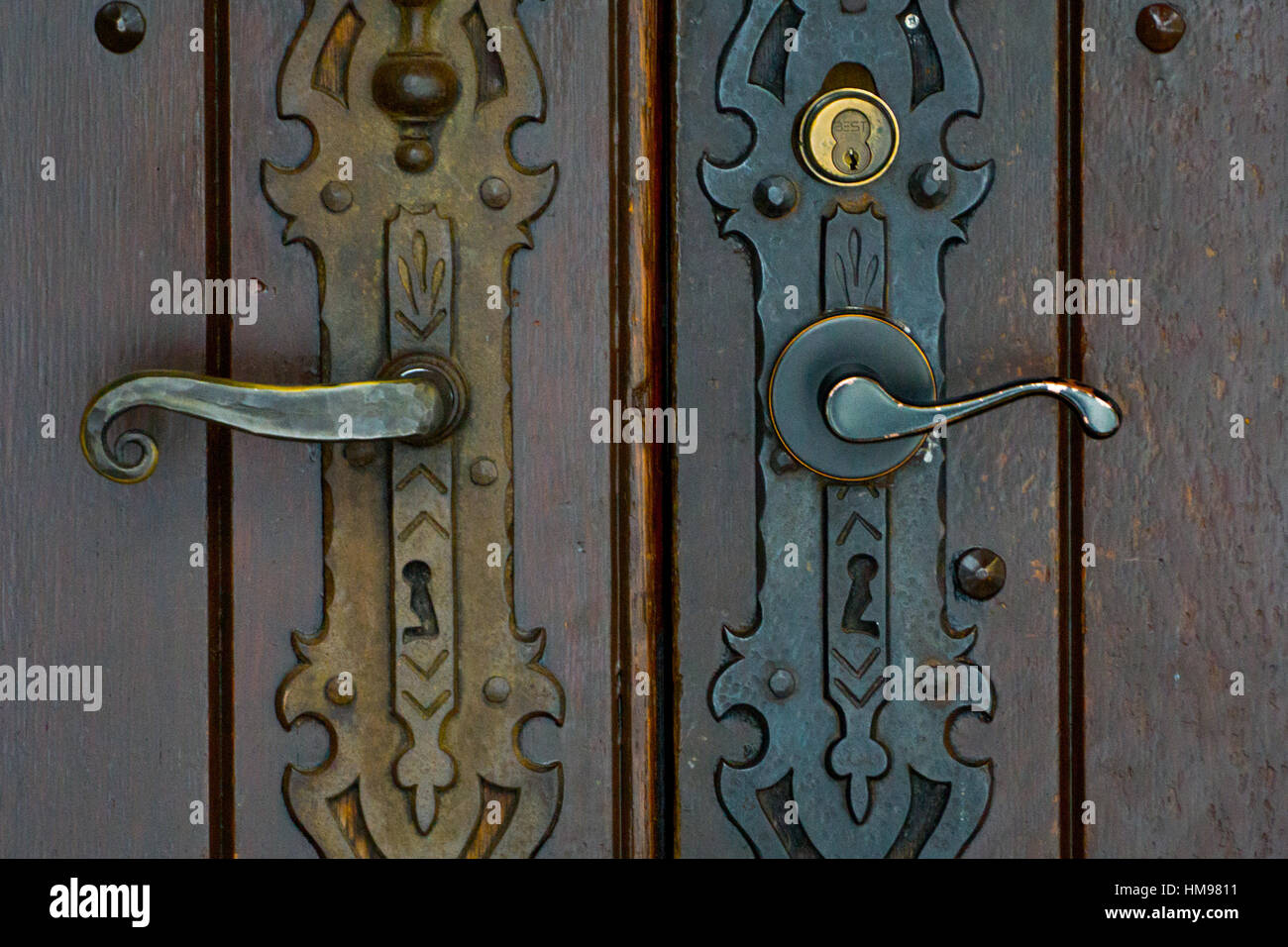 Rustic Door Handle High Resolution Stock Photography And Images Alamy