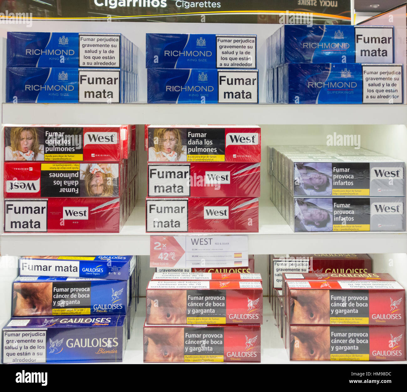 Cigarette prices in spain duty free vending machines selling cigarettes