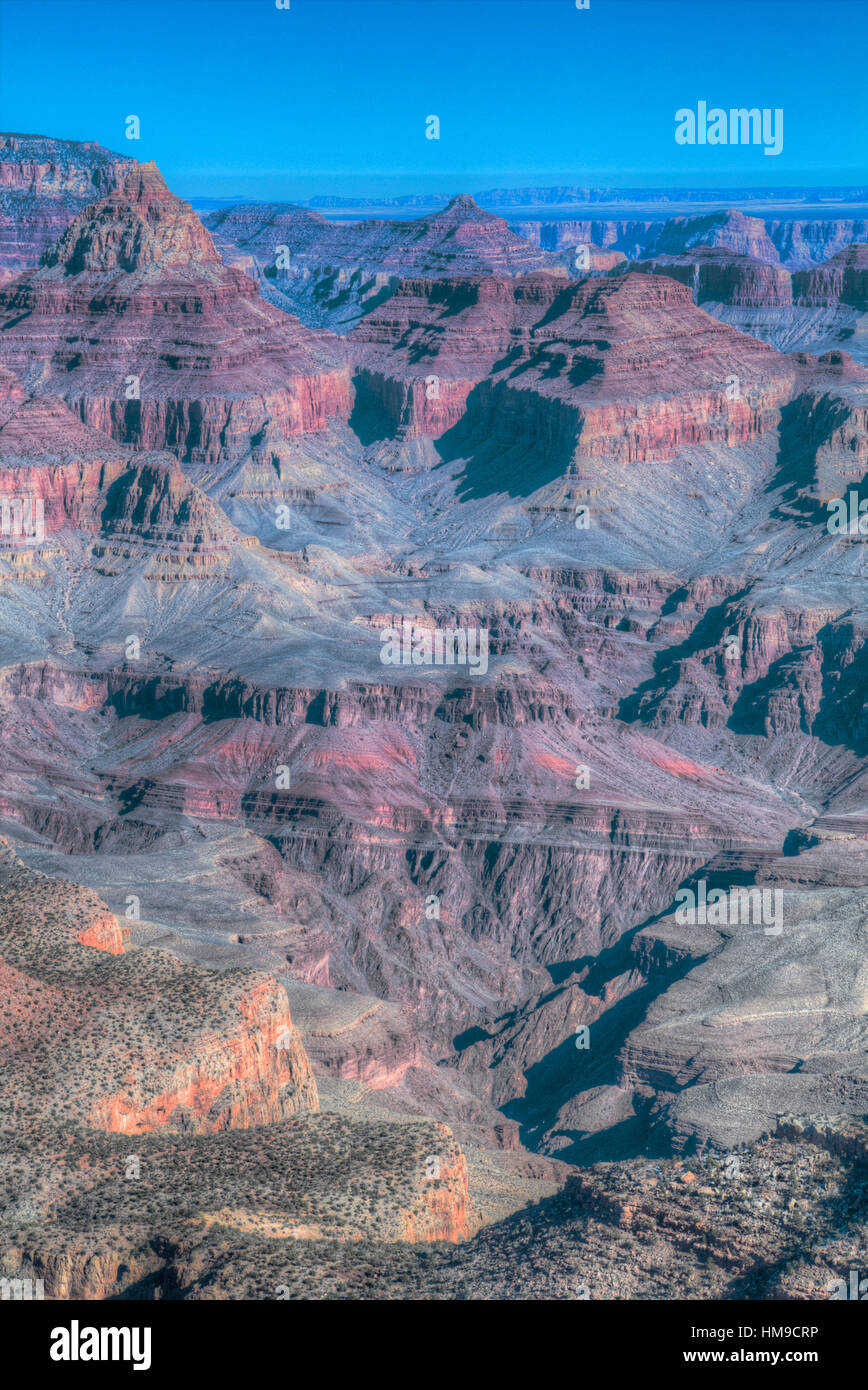 From Grandview Point, South Rim, Grand Canyon National Park, UNESCO World Heritage Site, Arizona, USA - Stock Image