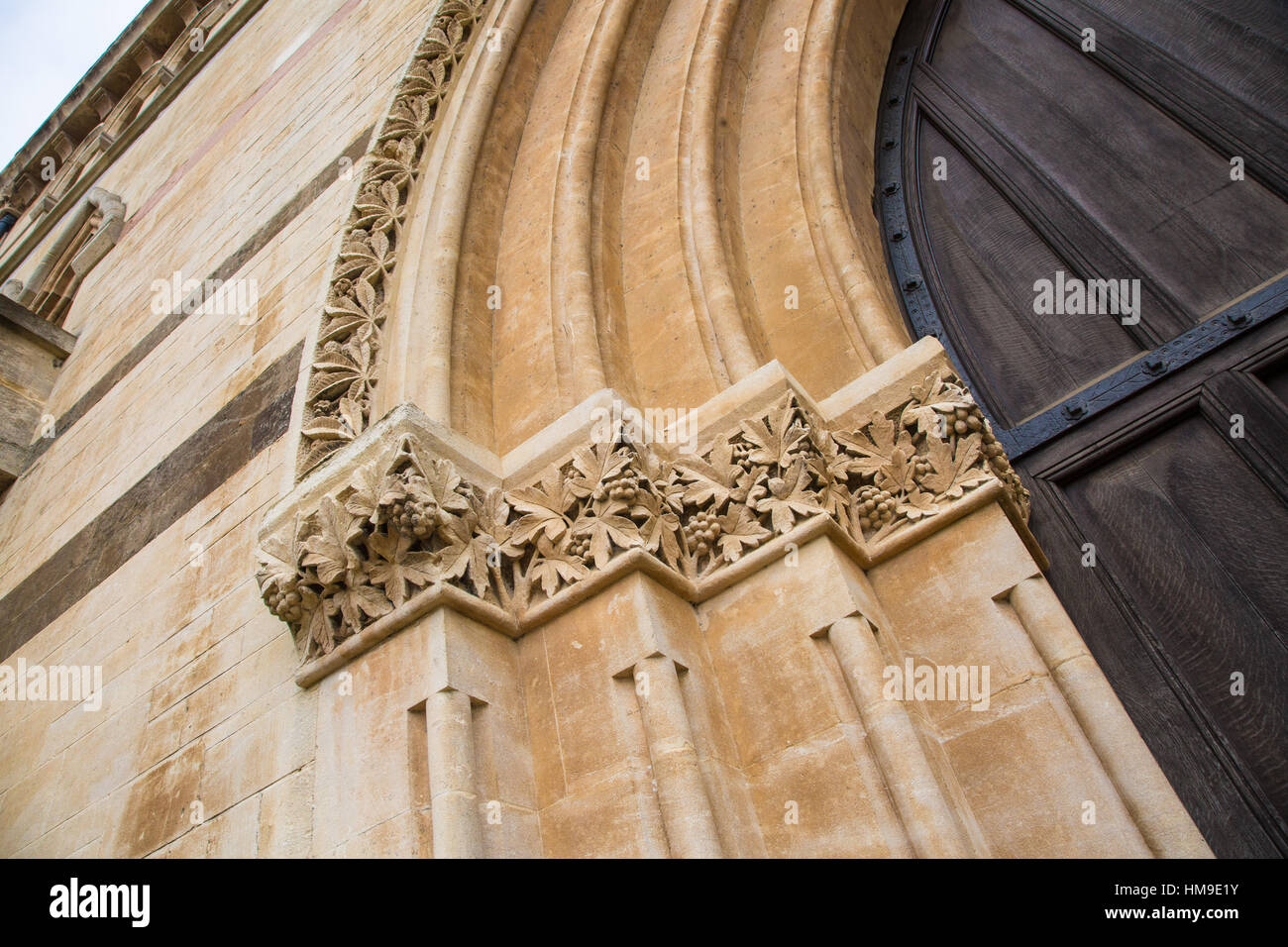 Jesus College Oxford showing details of the architechture Stock Photo