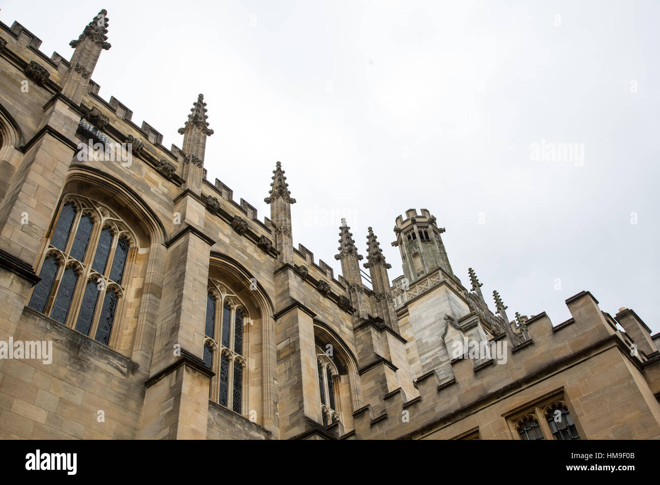 Jesus College Oxford showing details of the architechture - Stock Image