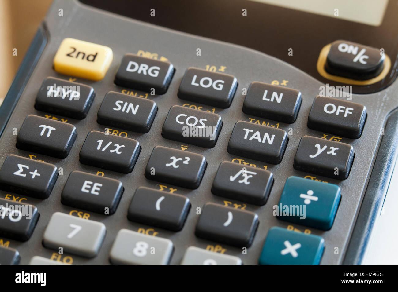 Texas Instruments Calculator Stock Photos & Texas