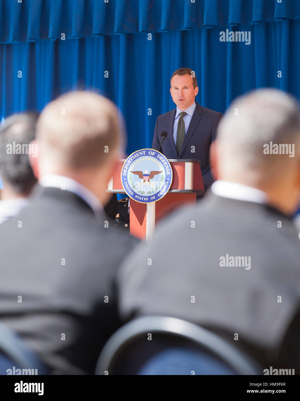 Washington, DC, Oct. 03, 2016: US Army Secretary Eric Fanning honors 2016 military Olymians and Paralympians at - Stock Image
