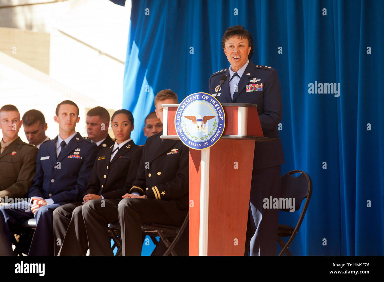 Washington, DC, Oct. 03, 2016: Lt. Gen. Stayce D. Harris honors 2016 military Olymians and Paralympians at the Pentagon - Stock Image