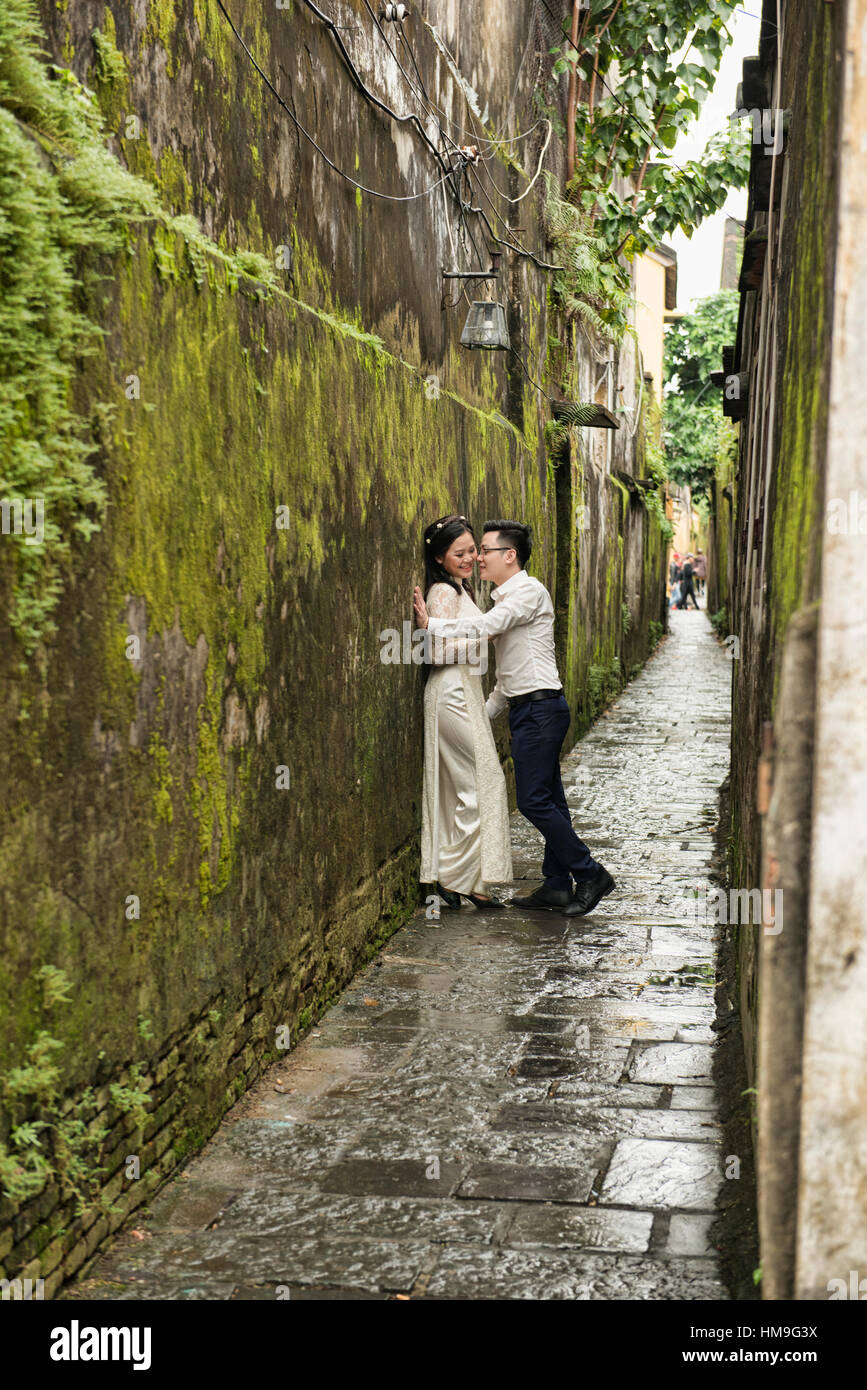 Love in the lane, Hoi An, Vietnam - Stock Image